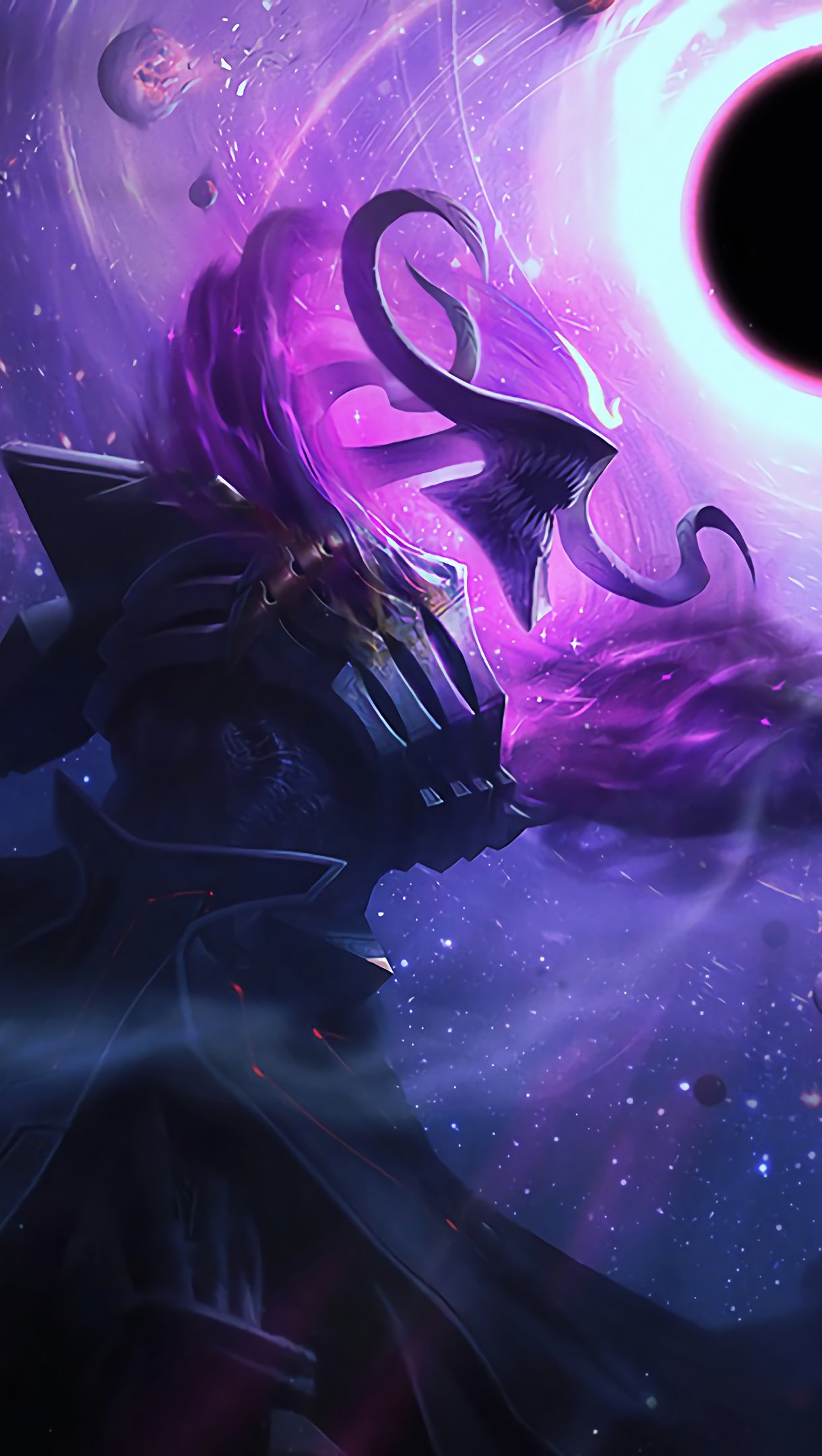 Wallpaper Dark Star Thresh League of Legends Vertical