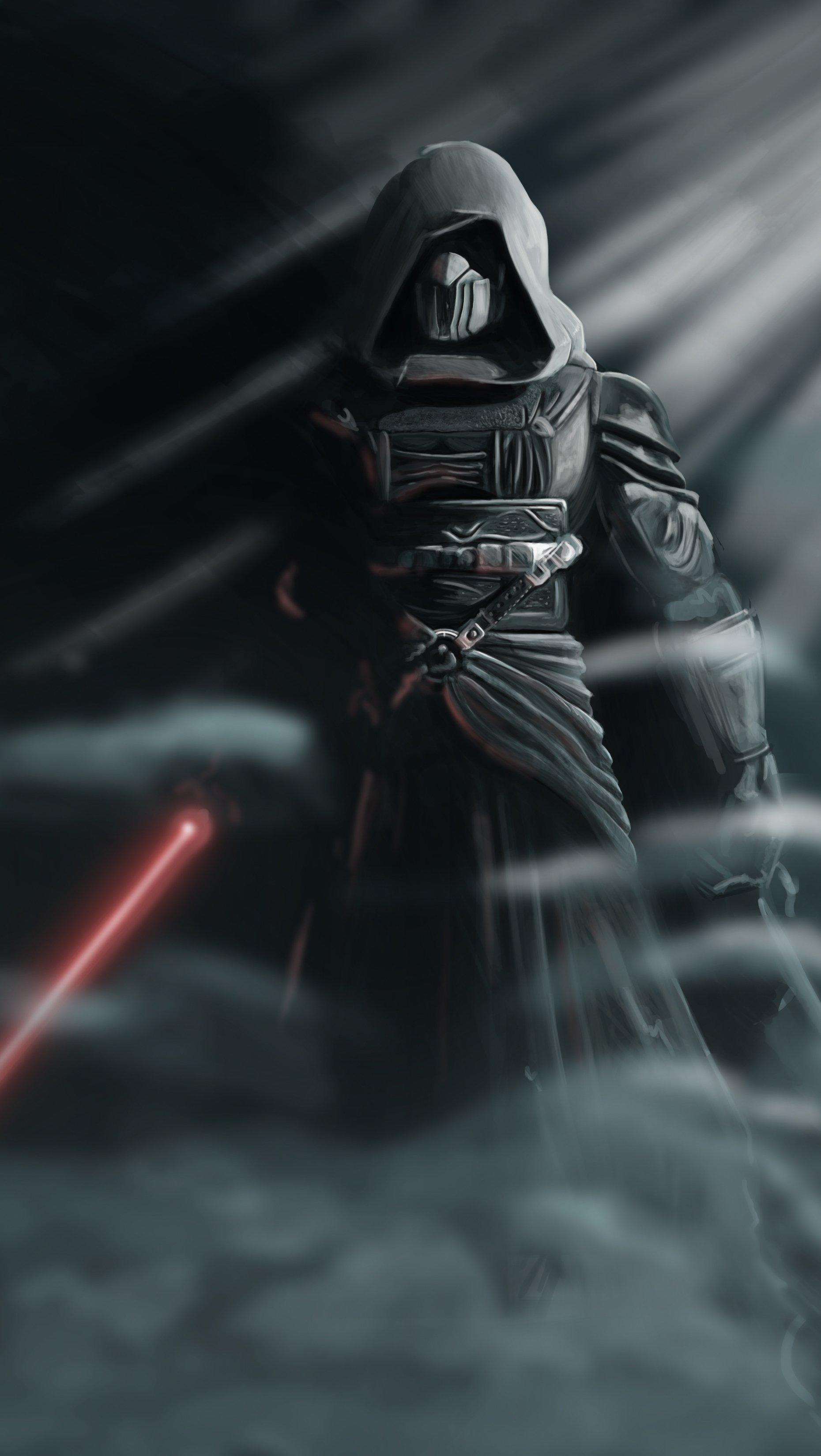 Fondos de pantalla Darth Revan Star Wars con Sable de Luz Vertical