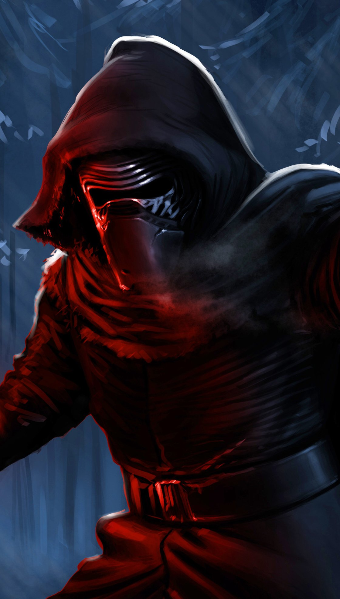 Fondos de pantalla Darth Vader con sable de luz Fanart Vertical