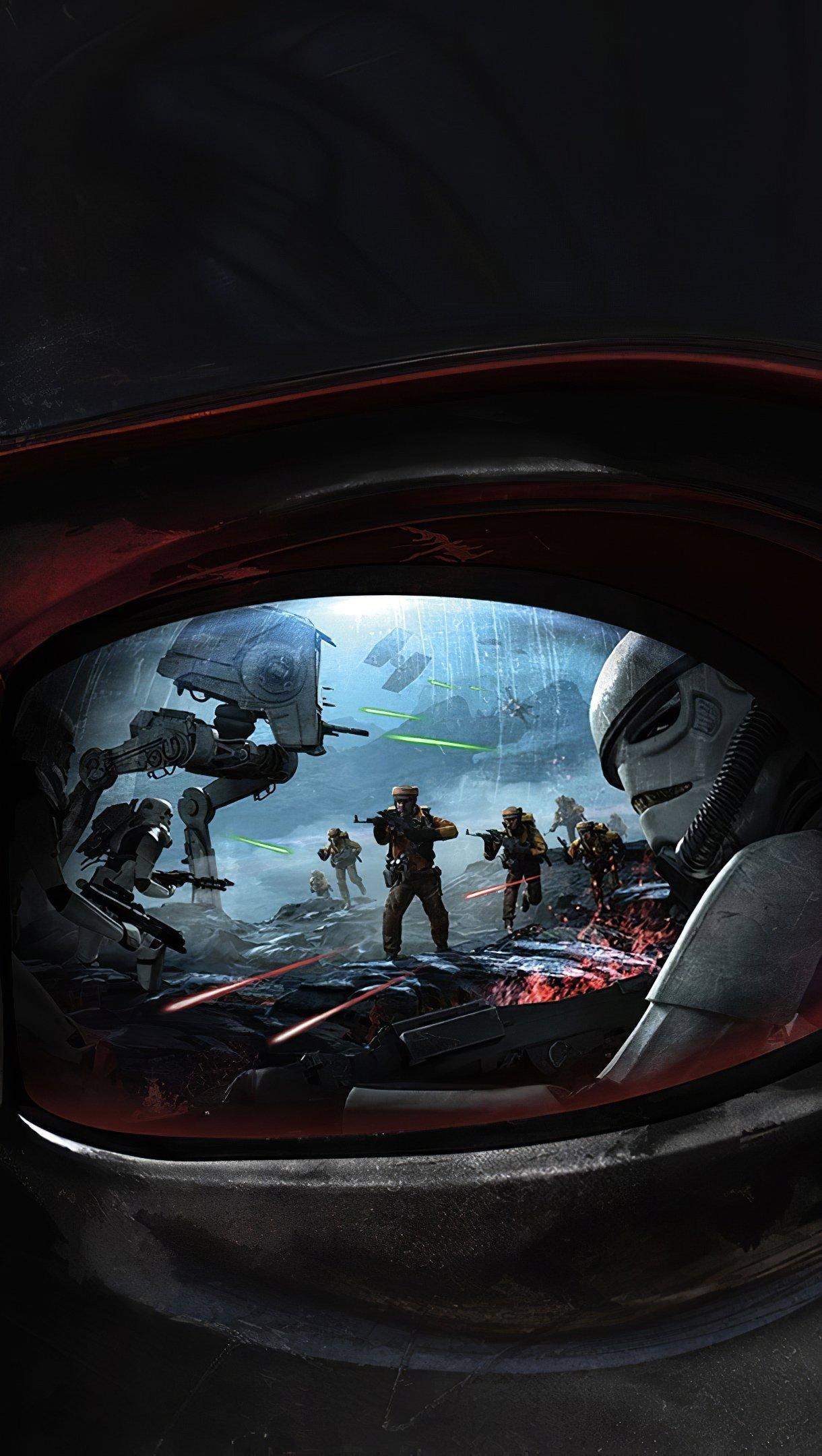 Wallpaper Darth Vader from Star Wars Battlefront Vertical