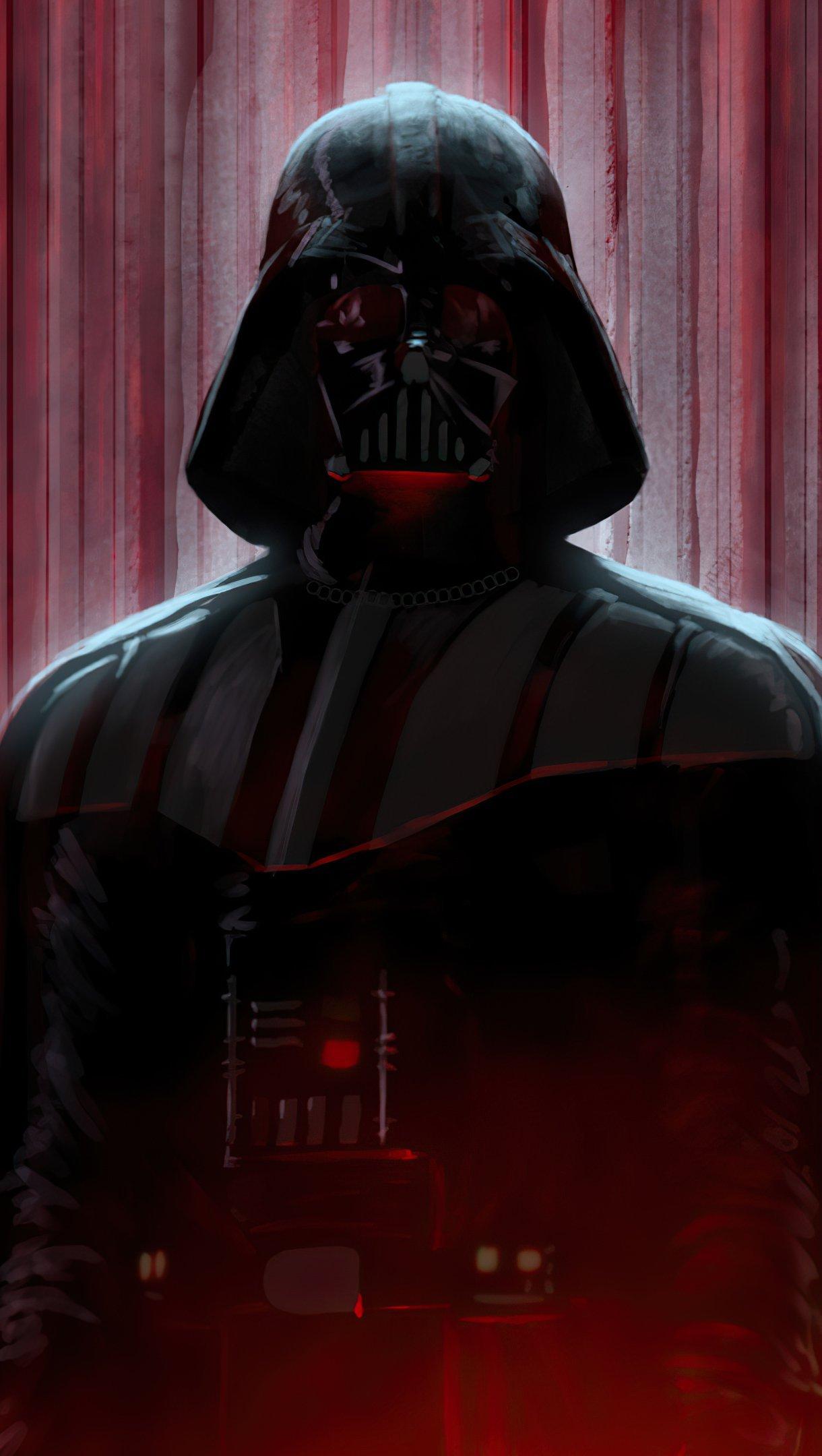 Wallpaper Darth Vader in shadows Vertical