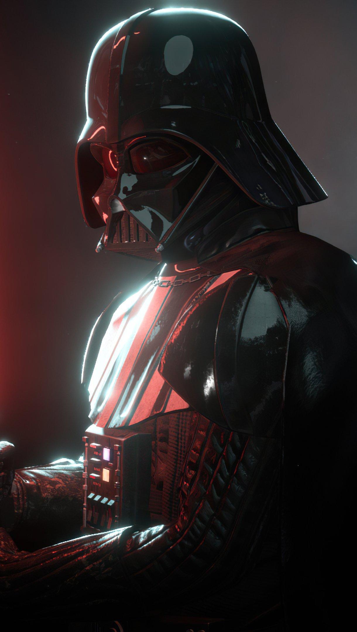 Wallpaper Darth Vader Star Wars Battlefront II Vertical