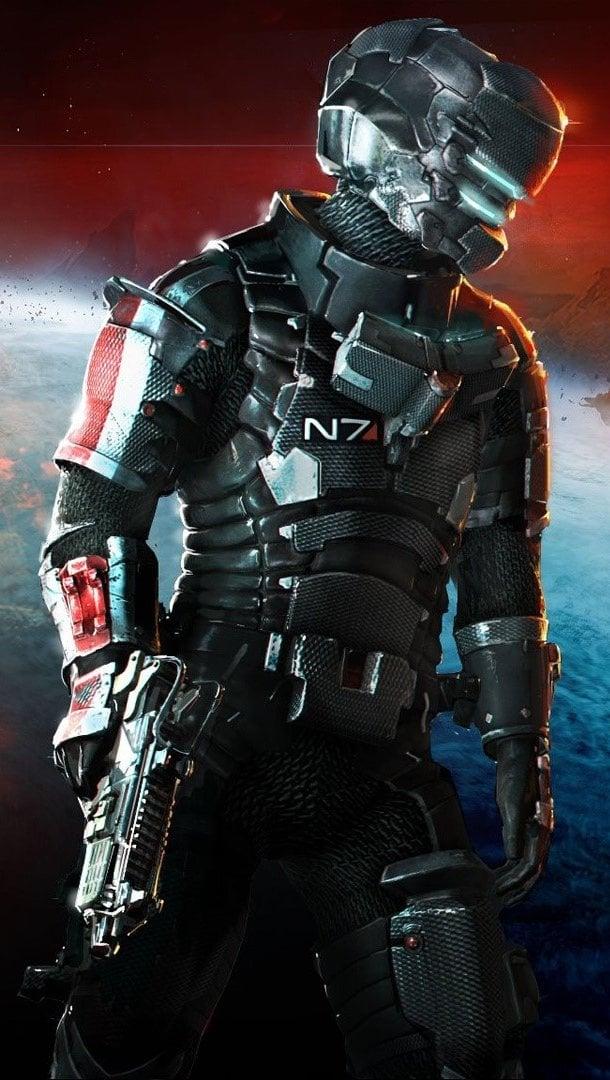 Fondos de pantalla Dead space 3 Mass Effect N7 armor Vertical