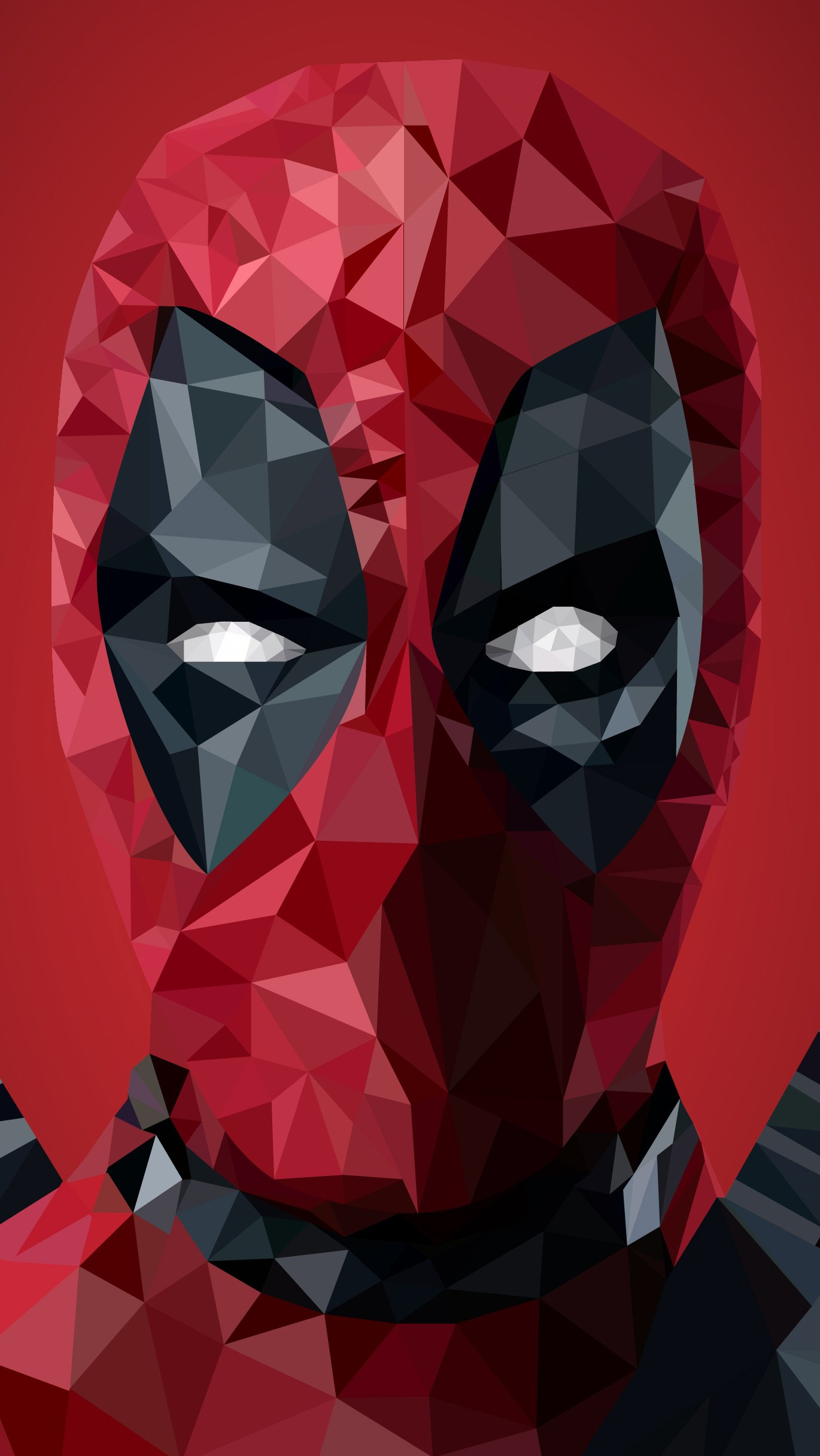 Wallpaper Deadpool Low Poly Art Vertical