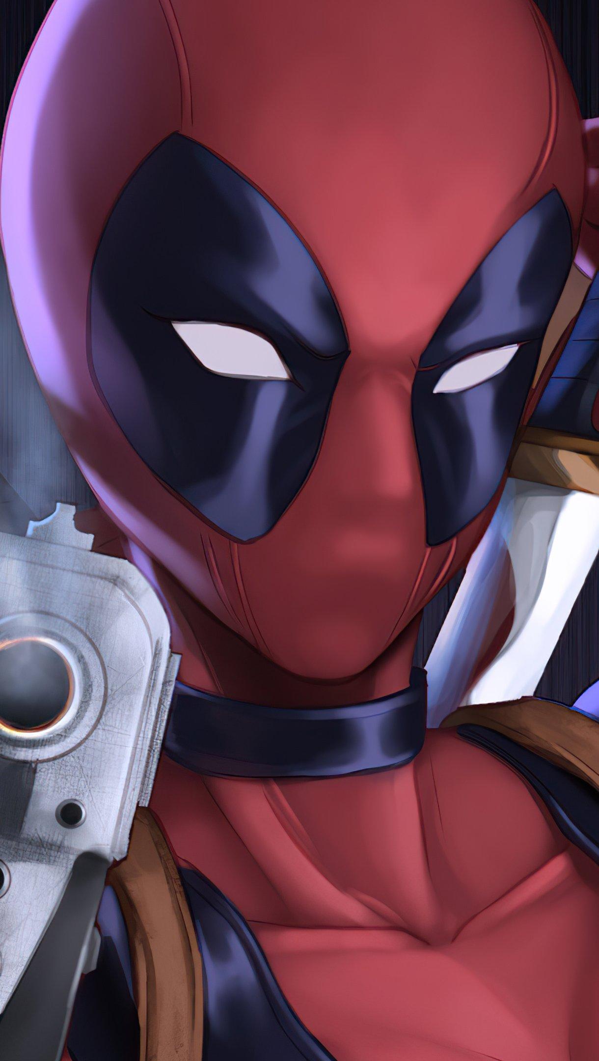 Wallpaper Lady Deadpool Vertical