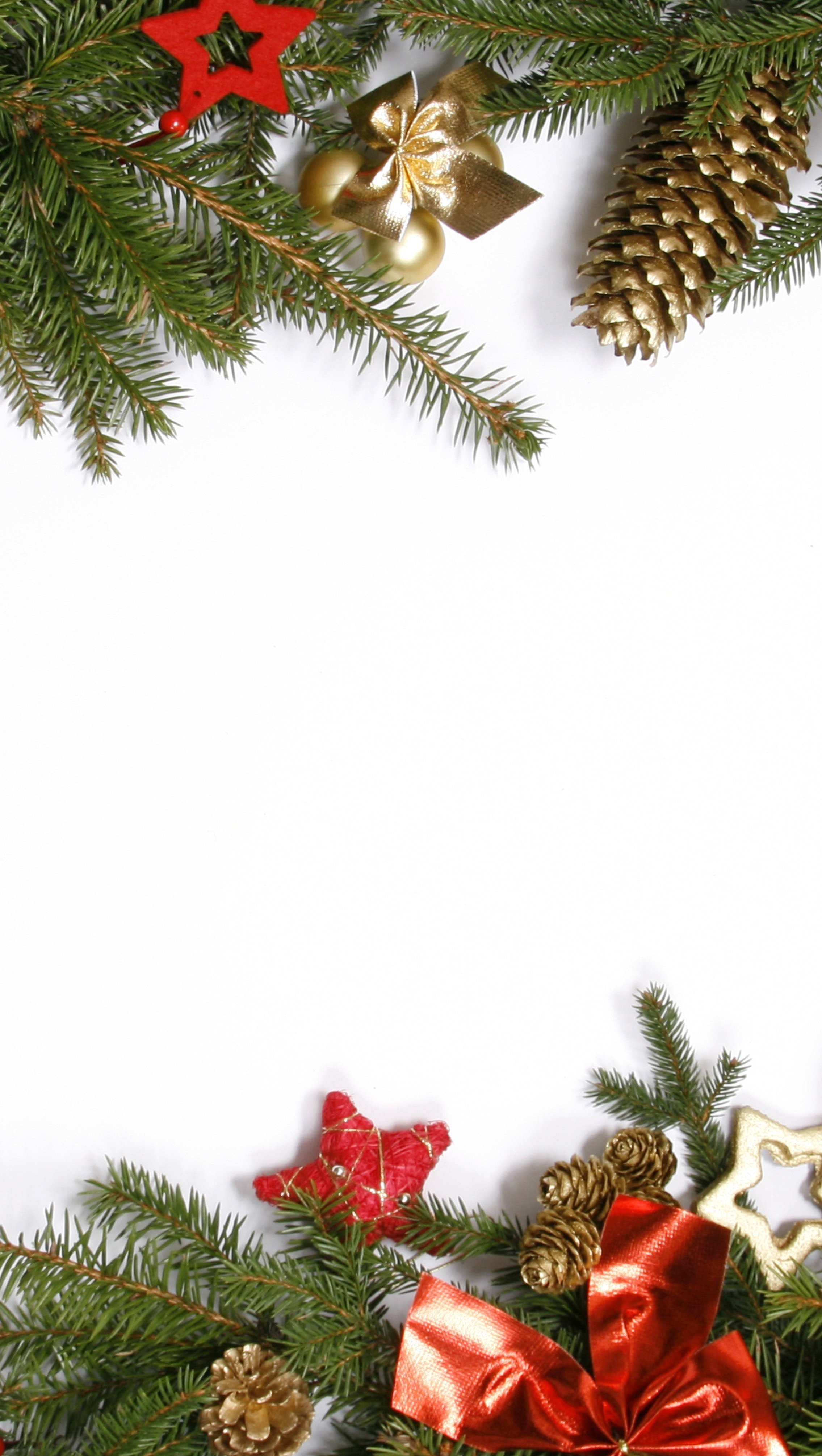 Wallpaper Decoration Christmas Ornaments Vertical