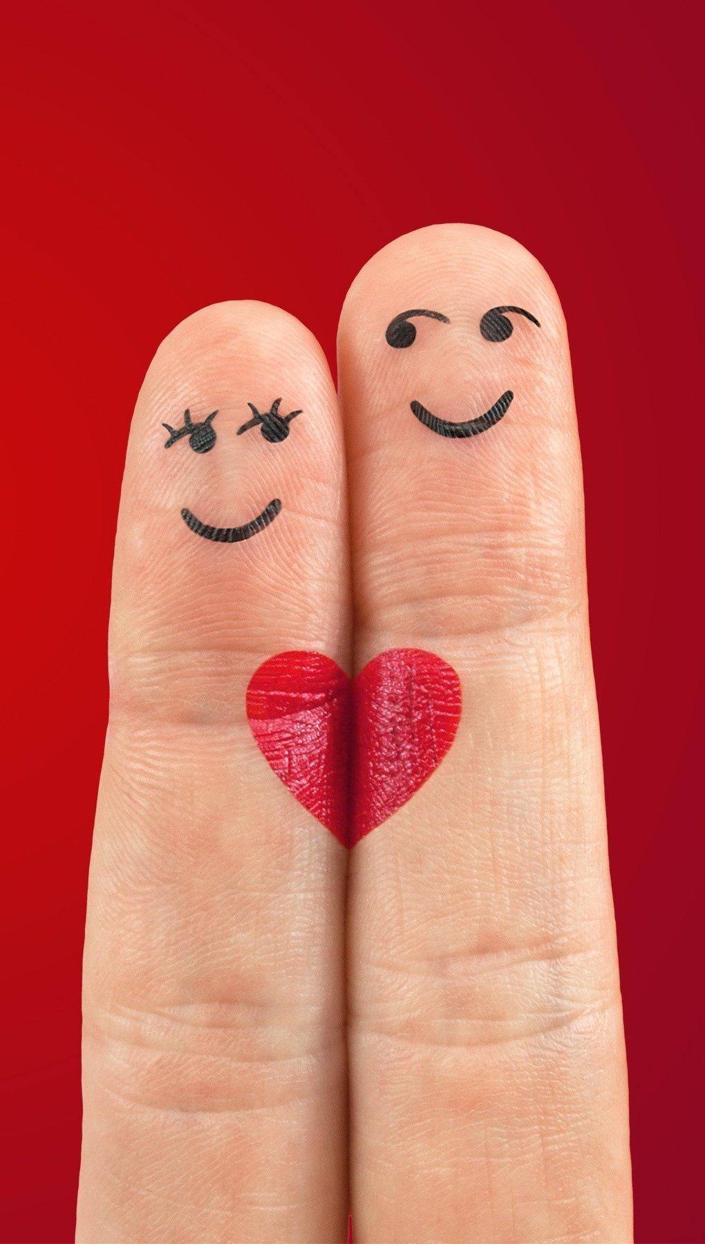 Wallpaper Fingers in love Vertical