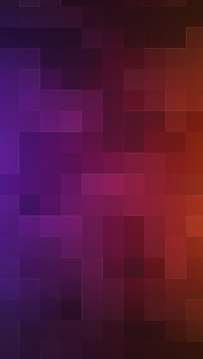 Wallpaper Gradient pixelated from blue to orange Vertical