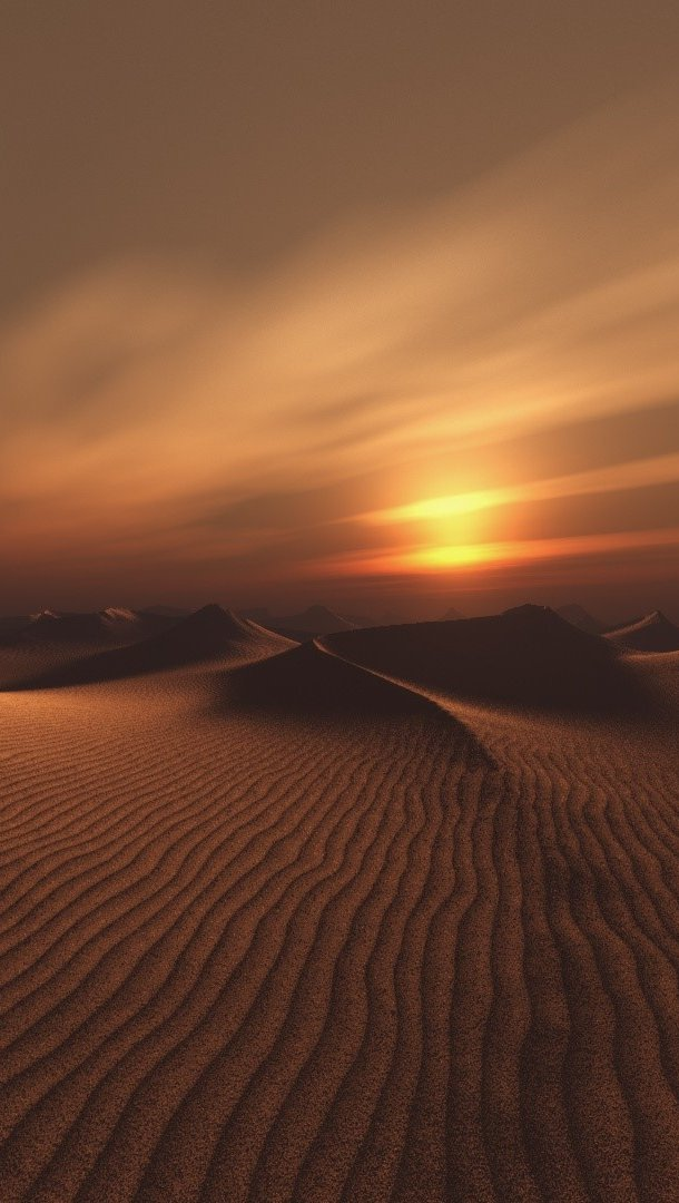 Wallpaper Dark desert Vertical