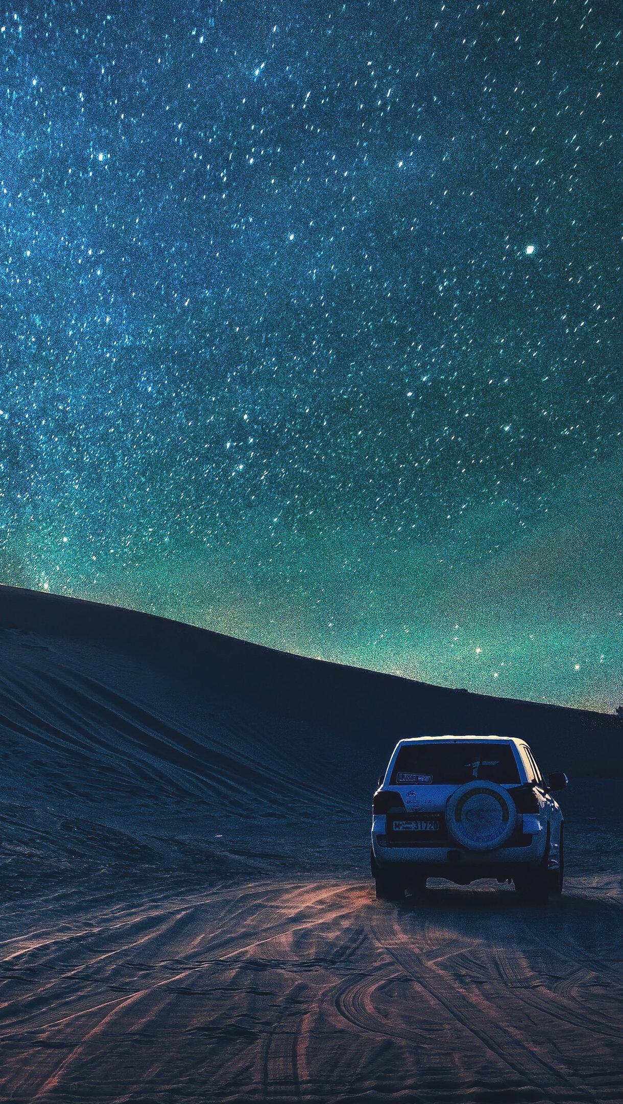 Wallpaper Desert and the stars Vertical