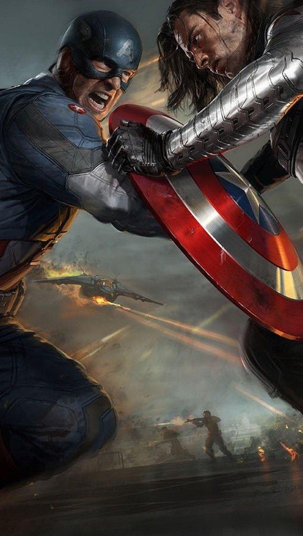 Fondos de pantalla Dibujo de Capitan America Vertical