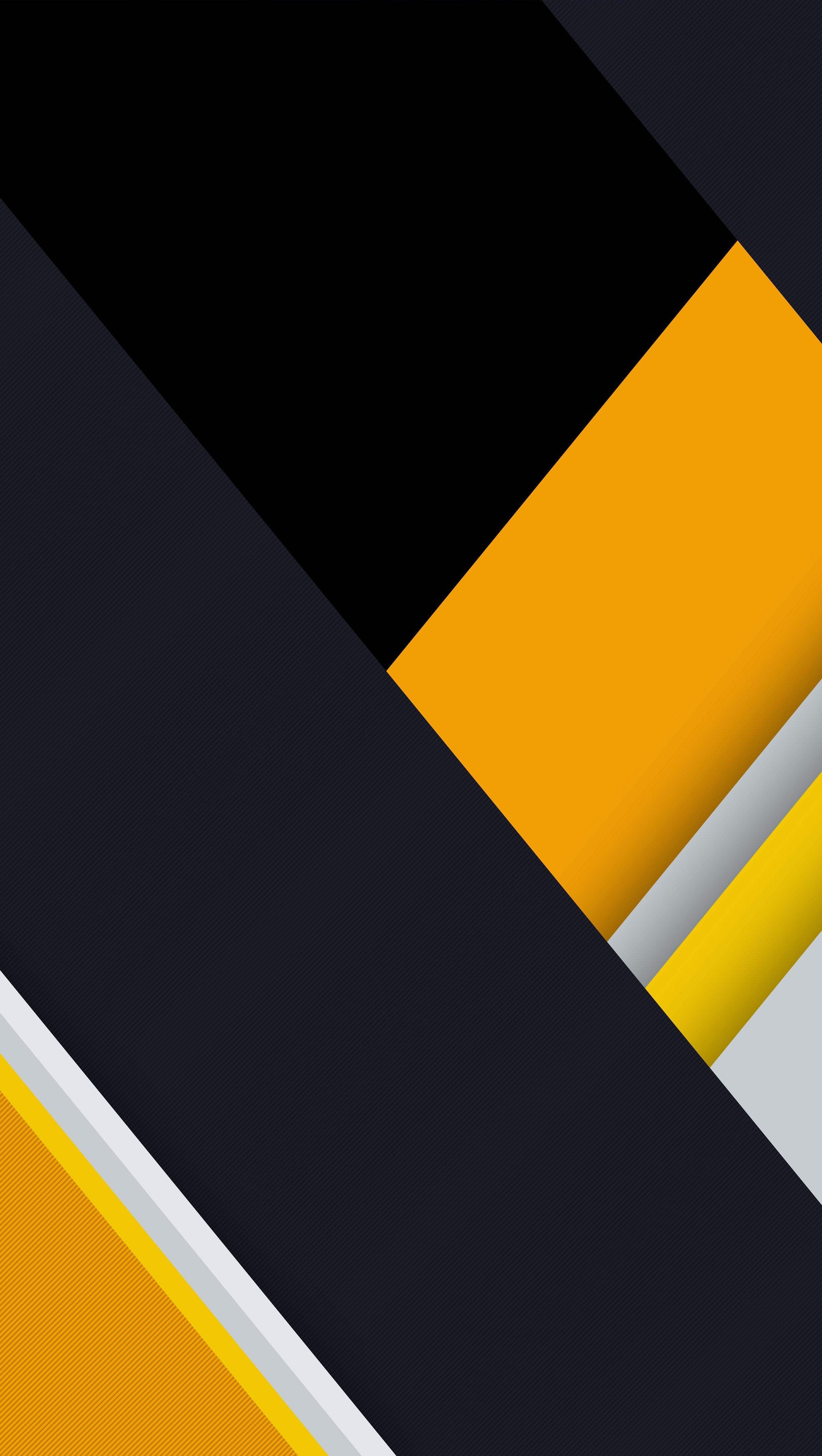 Fondos de pantalla Diseño de amarillo, negro y gris Vertical