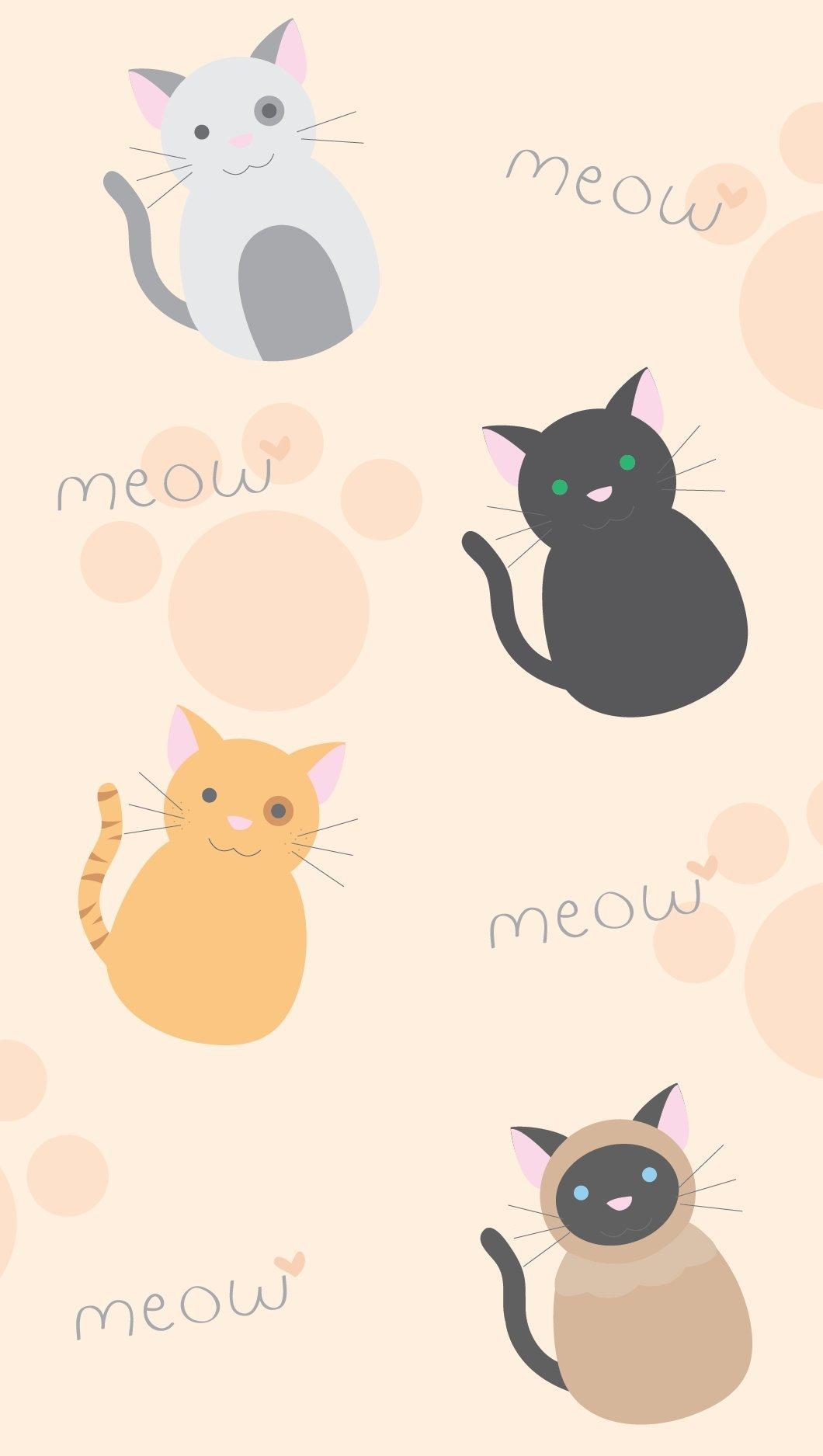 Fondos de pantalla Diseño patrón de Gatos Vertical
