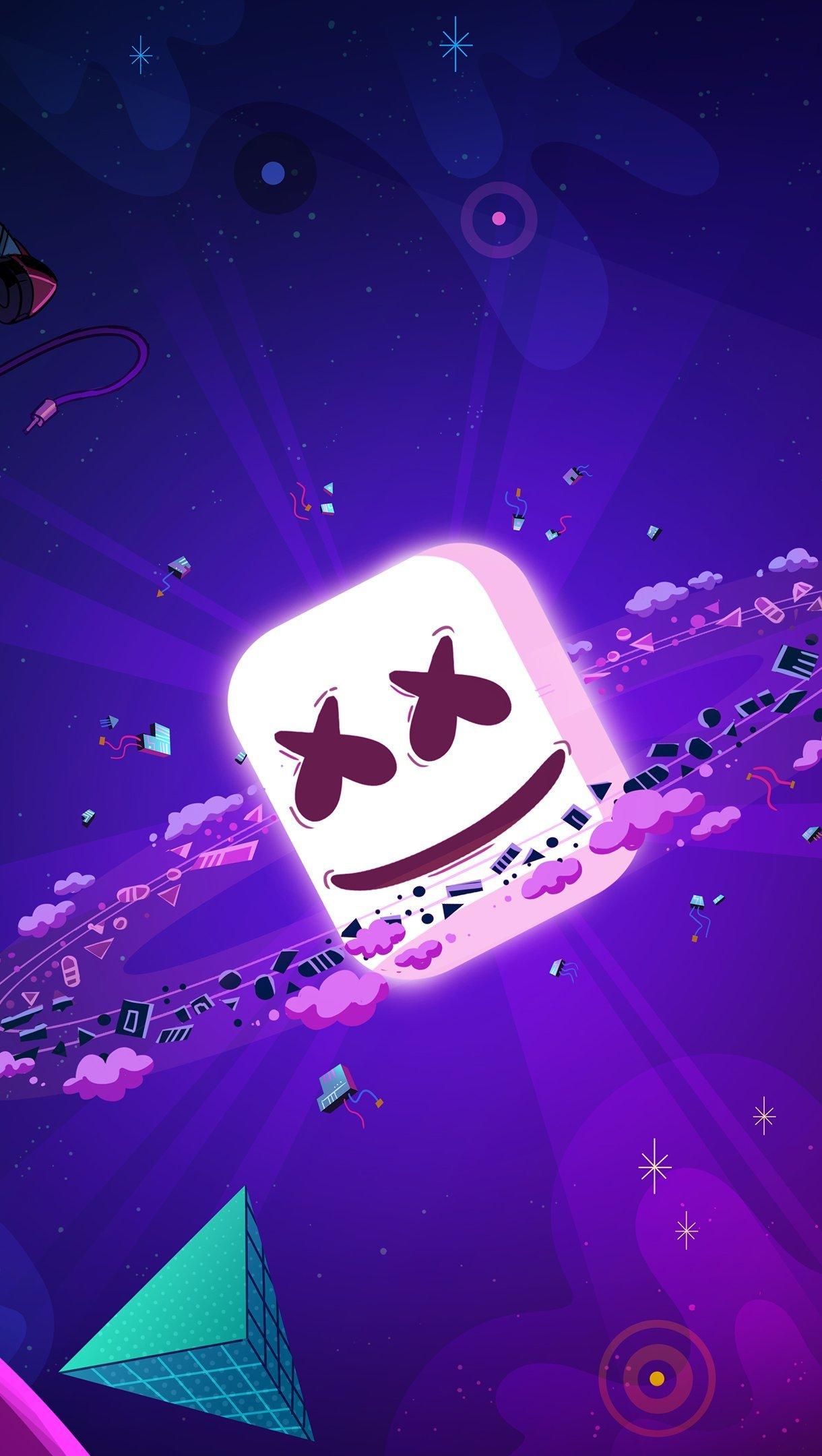 Fondos de pantalla DJ Marshmello Arte Ilustración Vertical