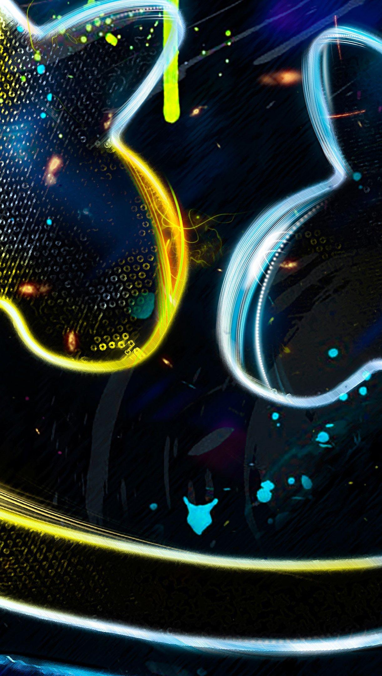 Fondos de pantalla DJ Marshmello Colores Neón Vertical