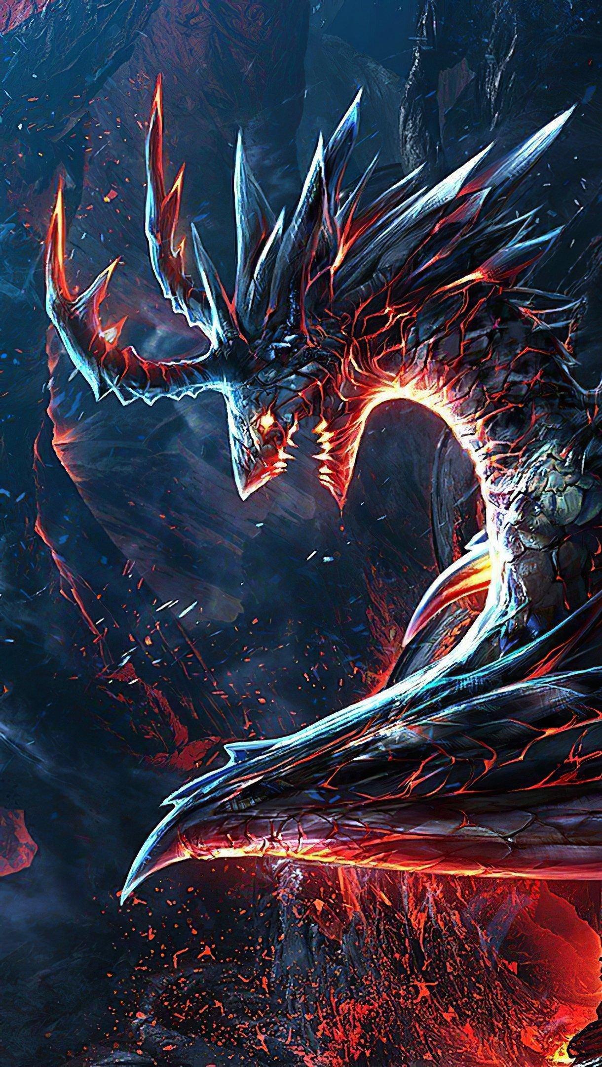 Fondos de pantalla Dragon en llamas Vertical