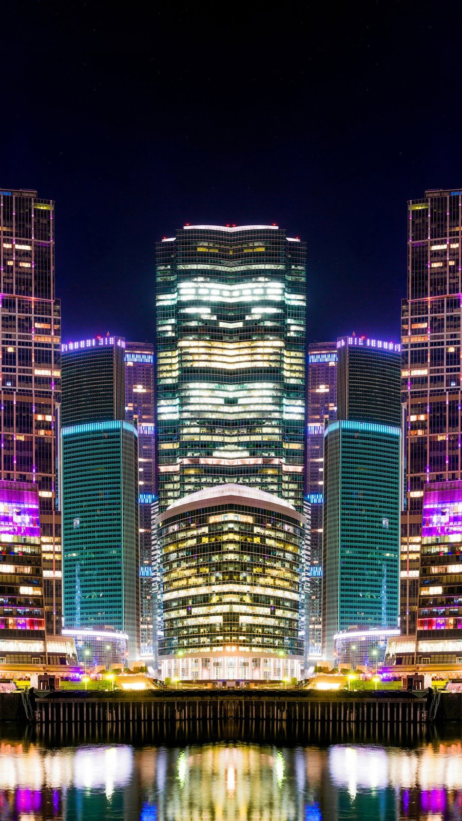Wallpaper Buildings in Moscow Russia Vertical