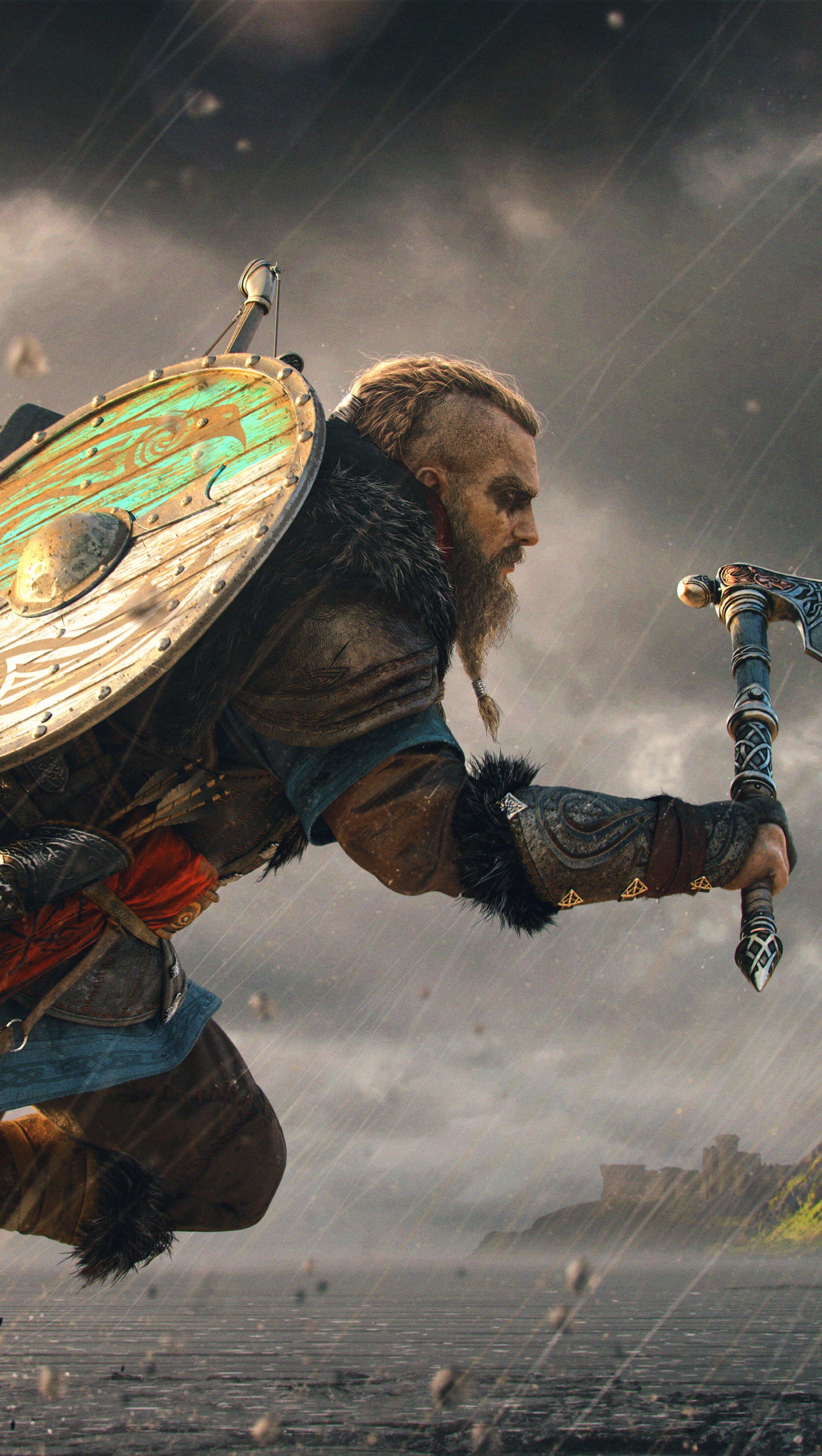 Fondos de pantalla Ejercito vikingo Eivor Assassins Creed Valhalla Vertical