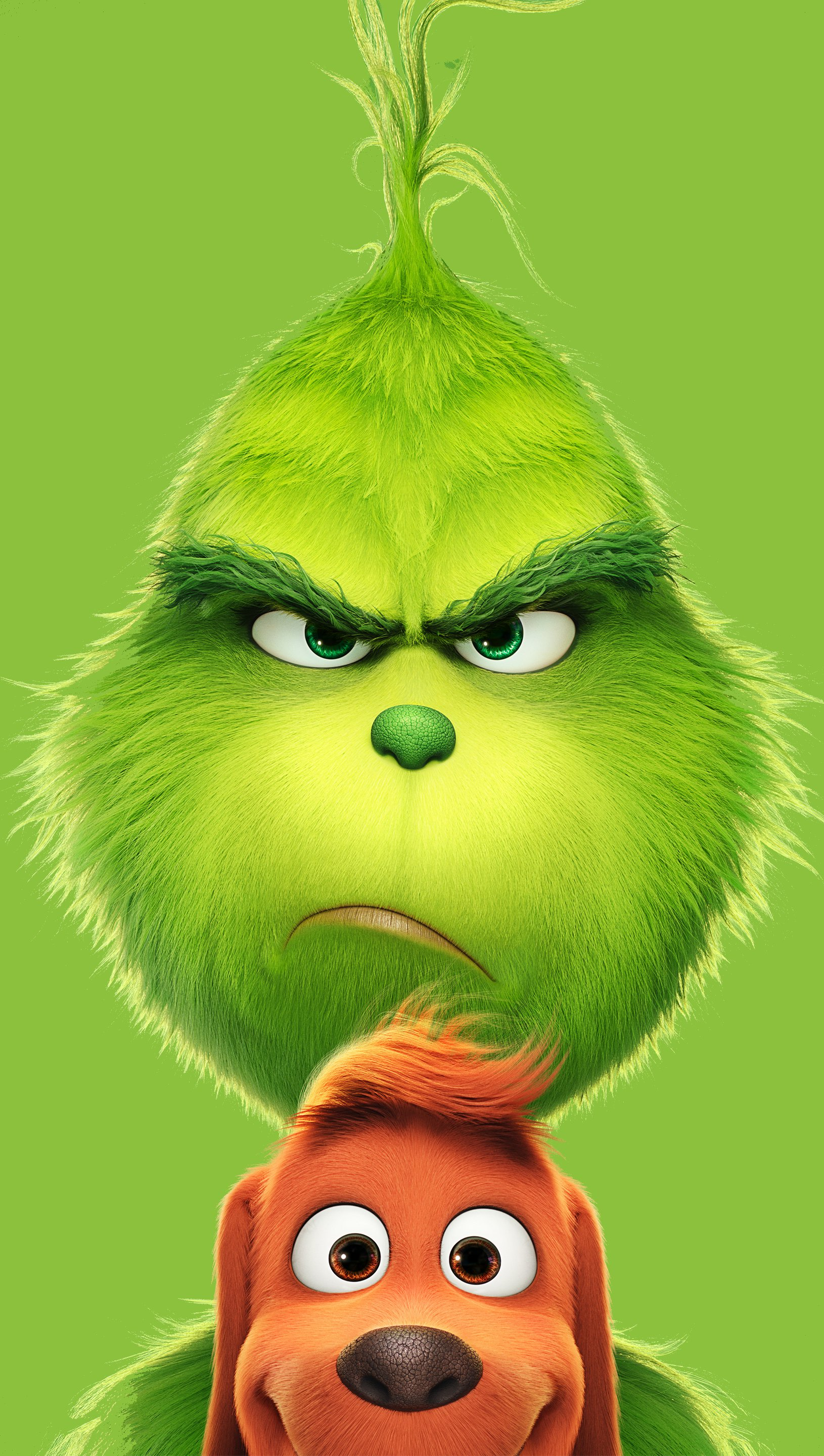 Wallpaper The Grinch Movie Animated film Vertical