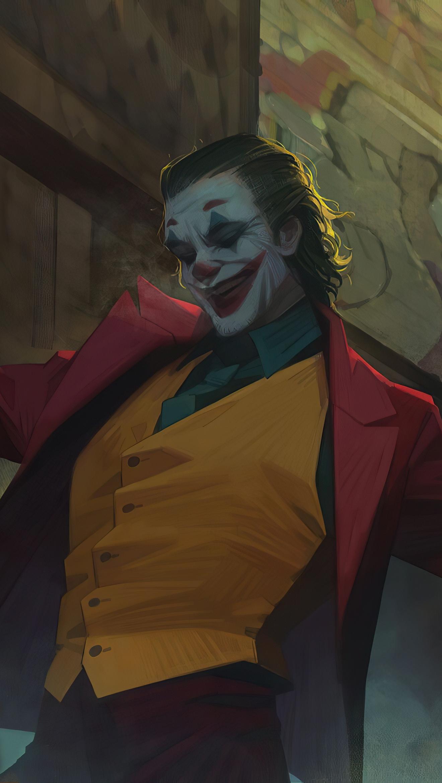 Wallpaper Joker dancing in stairs Vertical