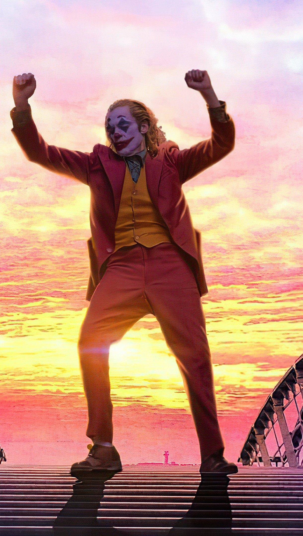 Wallpaper Joker dancing in the stairs Vertical