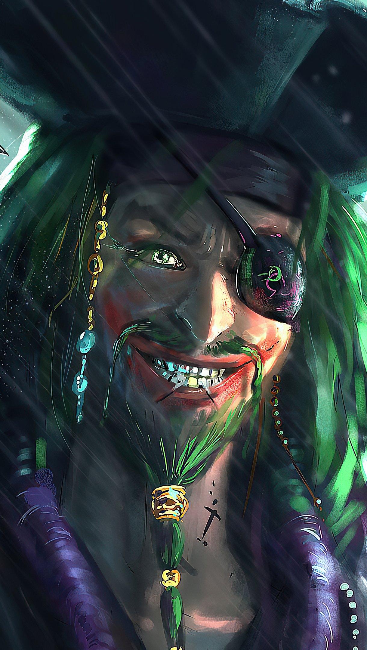 Fondos de pantalla El Guasón como pirata Vertical