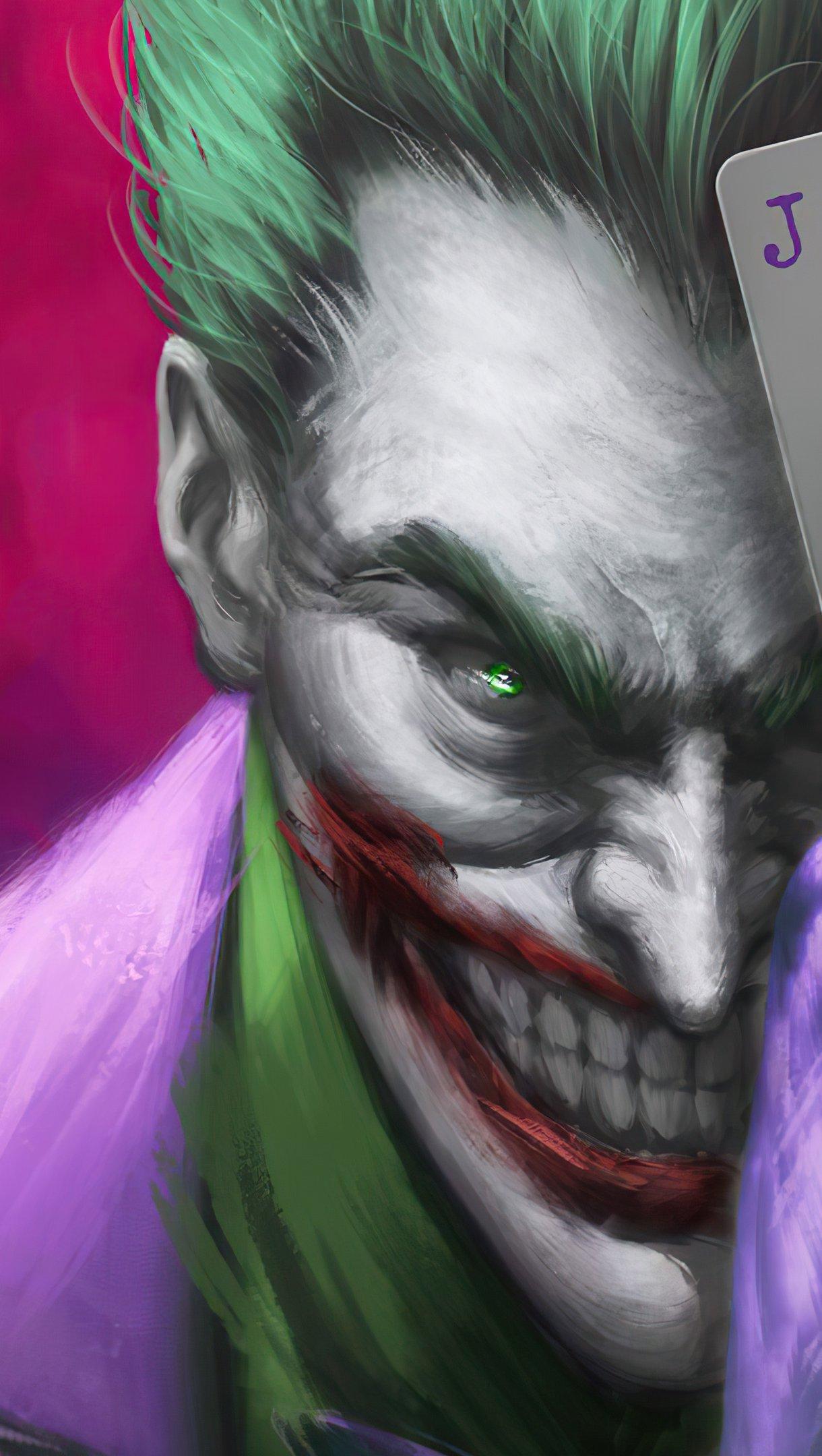 Wallpaper Joker with play card Vertical