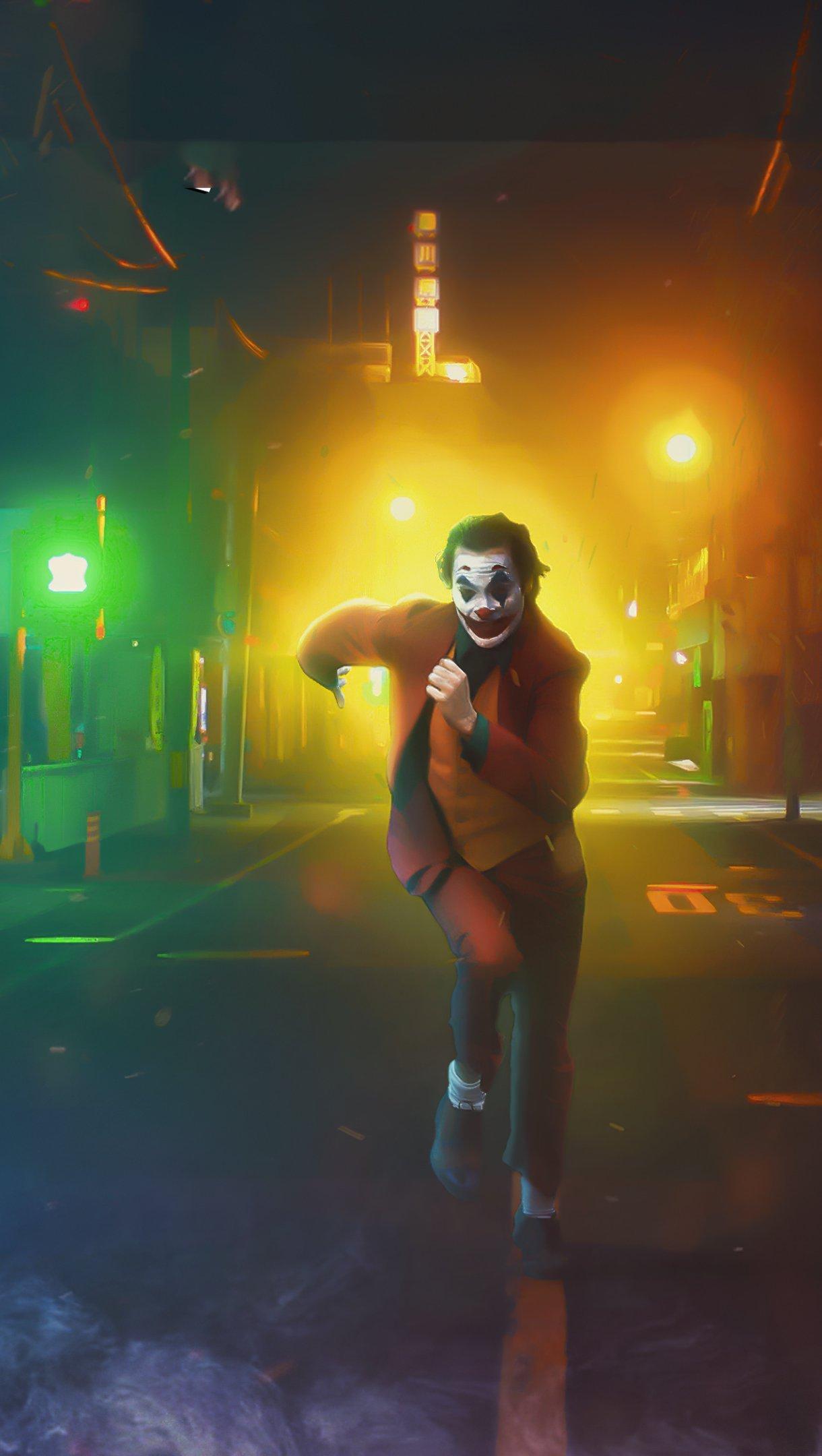 Wallpaper Joker on the run Vertical