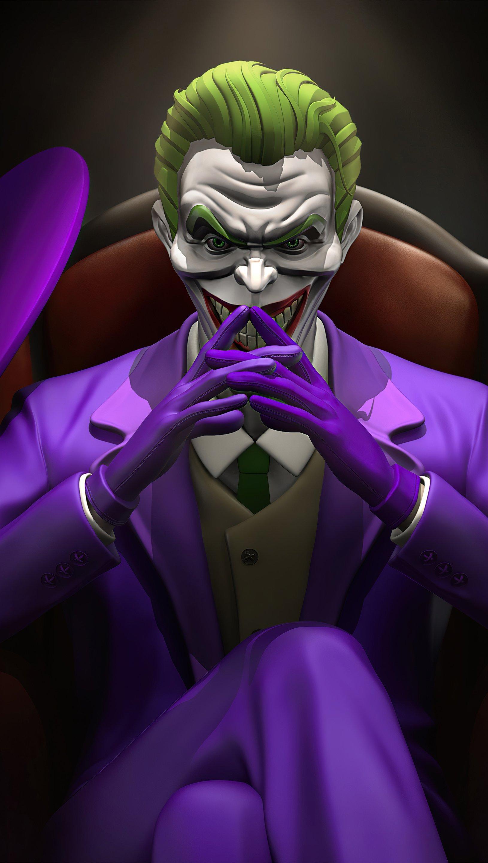 Wallpaper Joker thinking Vertical