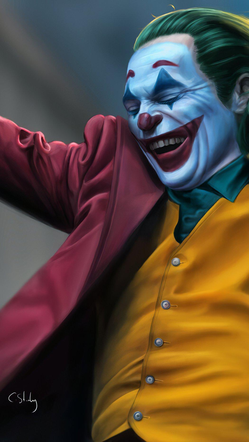 Wallpaper The Joker smiling Vertical