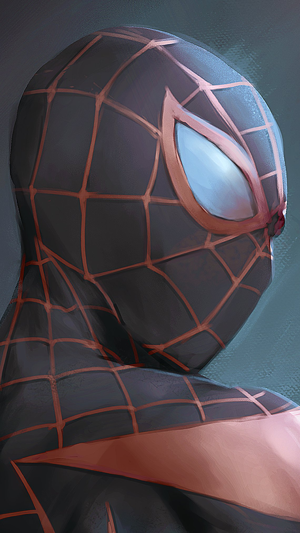 Wallpaper Spiderman with black suit Vertical