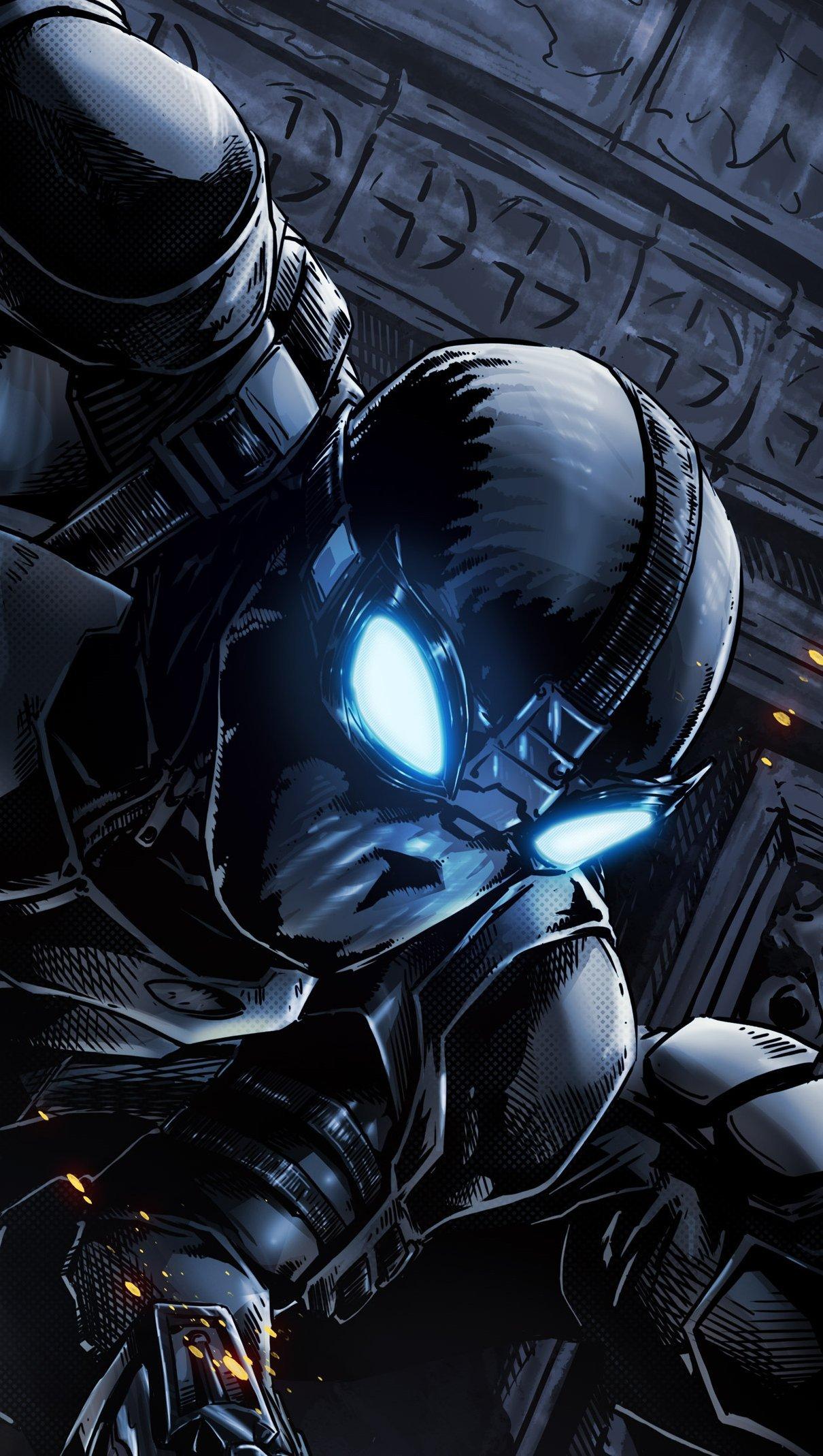 Wallpaper Spiderman with black suit Vertical