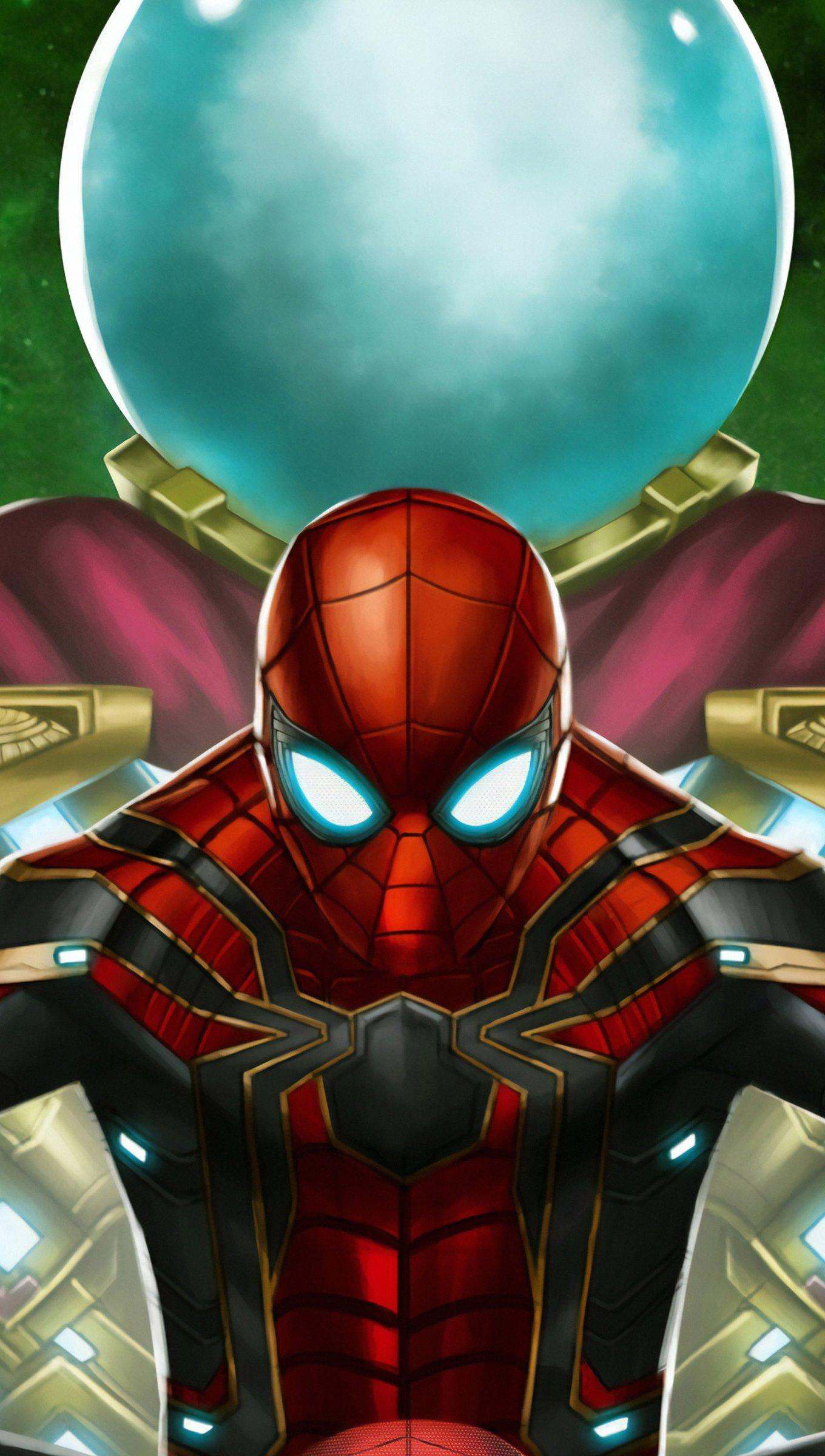 Fondos de pantalla El hombre araña contra Mysterio Fanart Vertical
