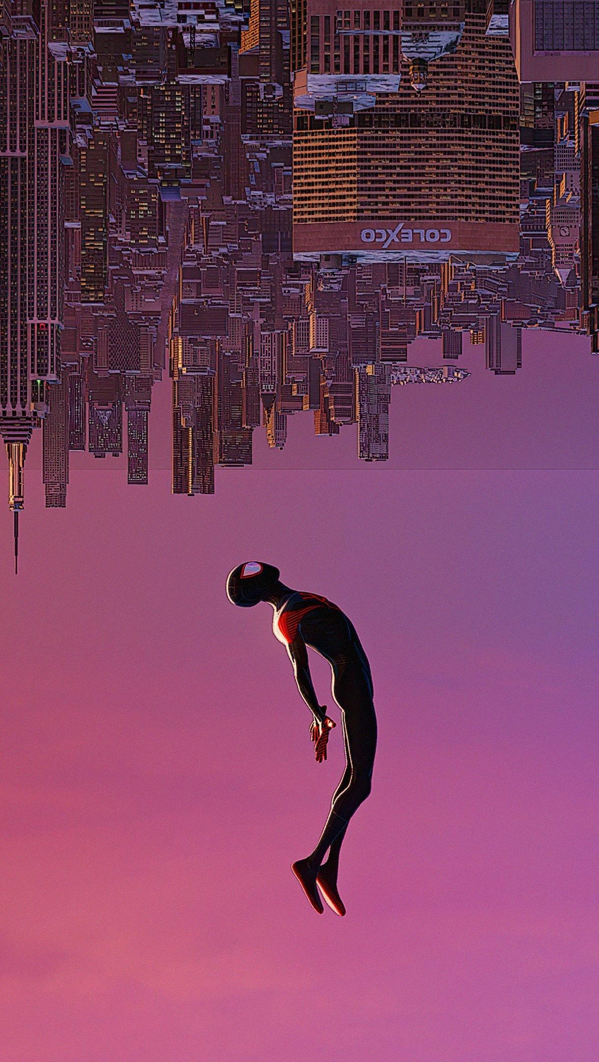 Wallpaper Spiderman upside down Vertical
