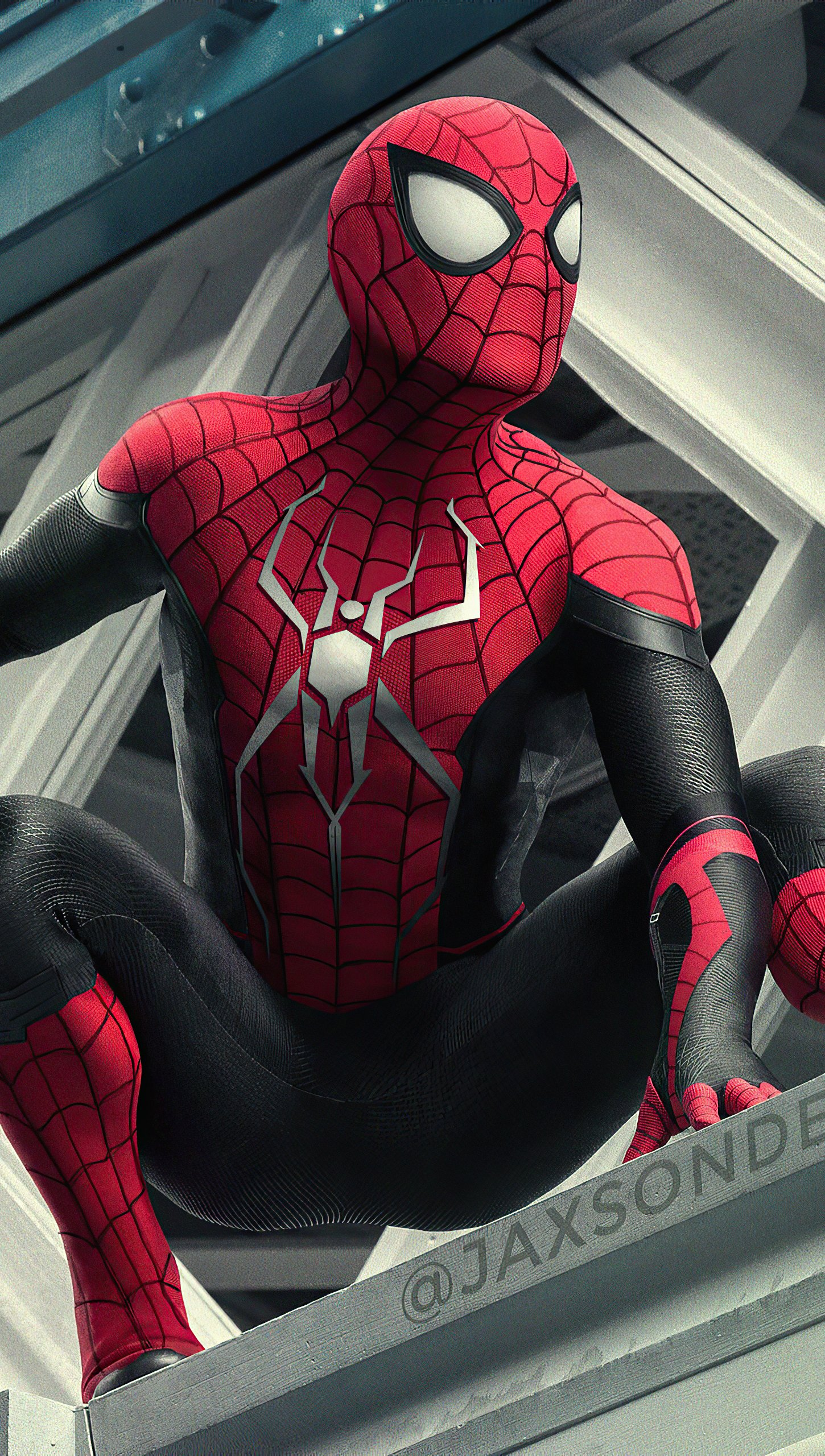 Fondos de pantalla El hombre araña en edificio Vertical