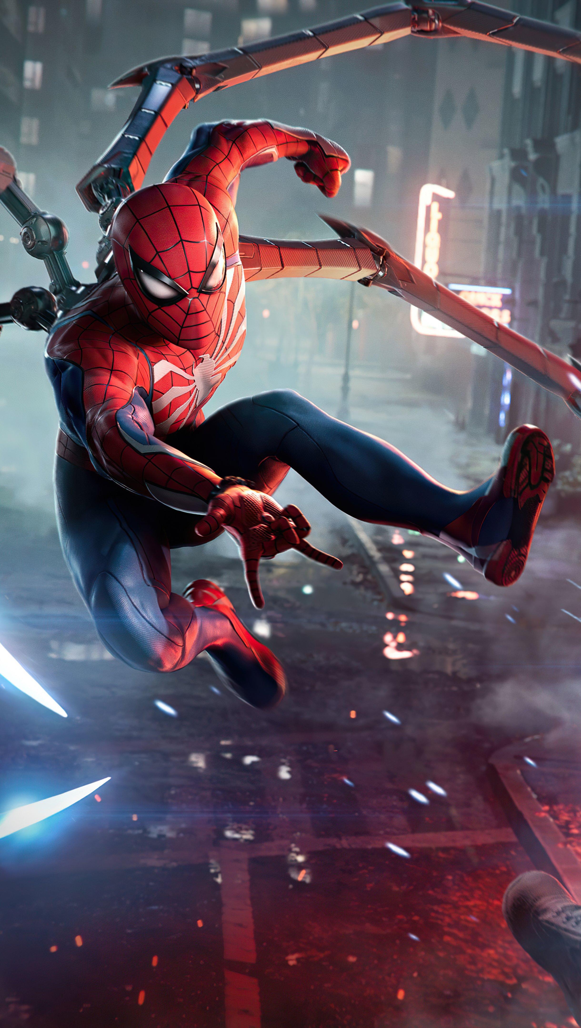 Fondos de pantalla El hombre araña en pelea Vertical