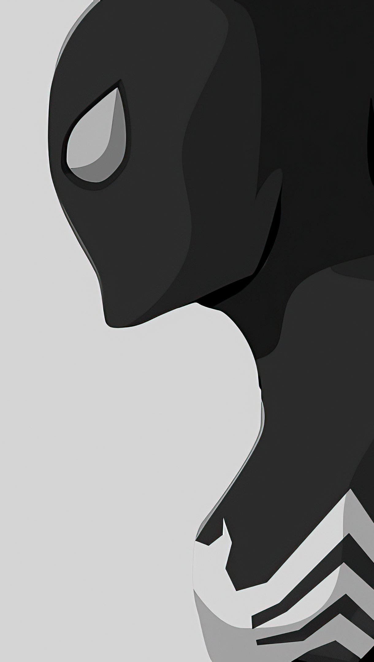 Wallpaper Black Spiderman minimalist style Vertical