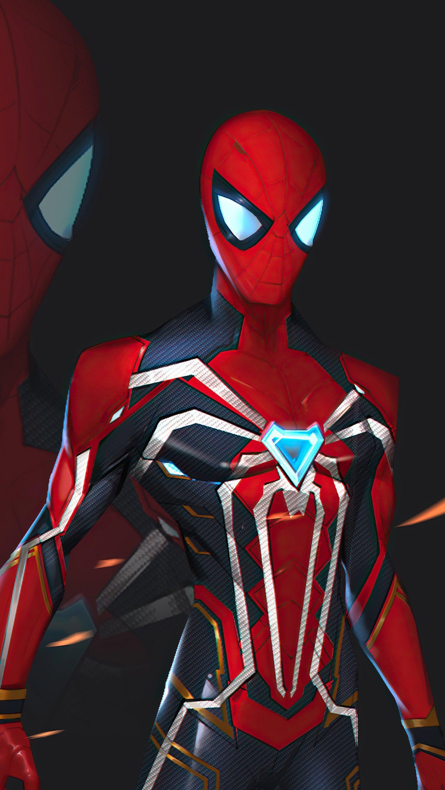 Fondos de pantalla El hombre araña nuevo traje 2021 Vertical