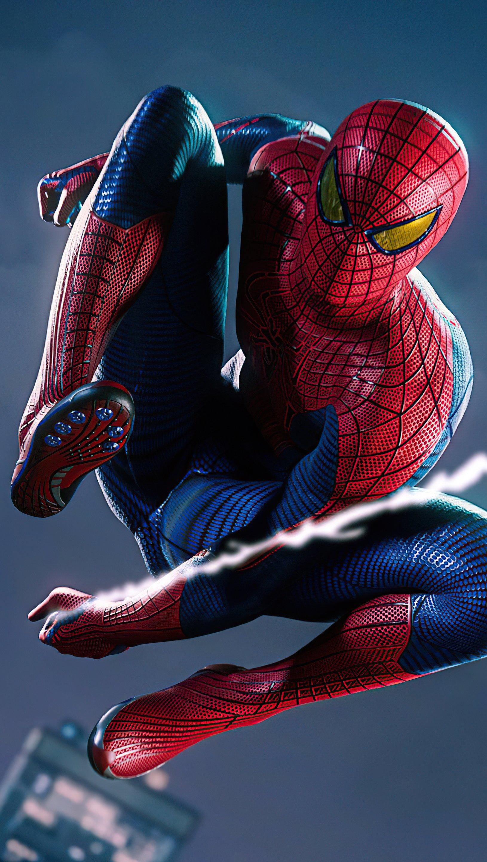 Wallpaper Spiderman Remastered PS5 Vertical