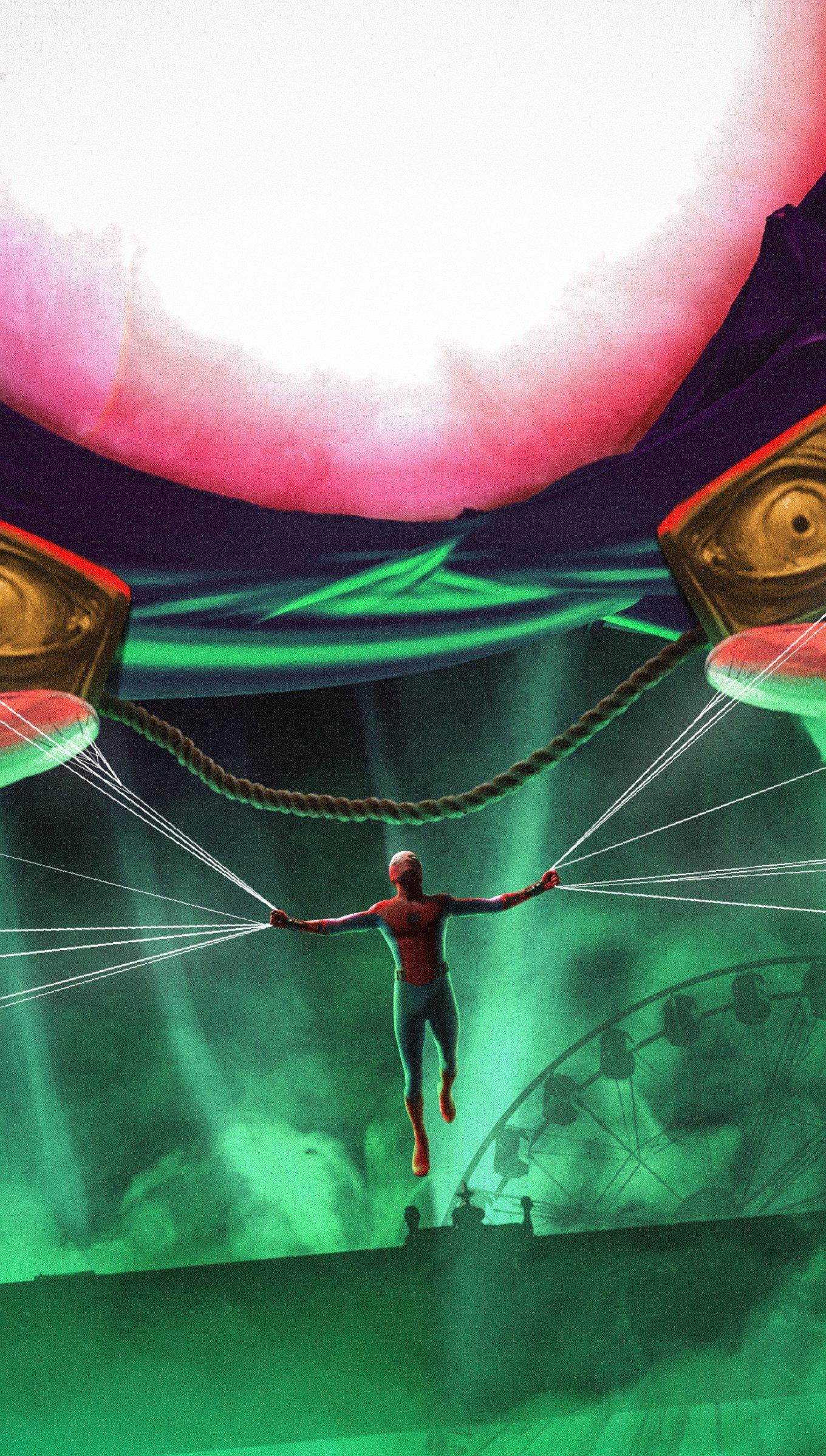 Fondos de pantalla El hombre araña y Mysterio Vertical