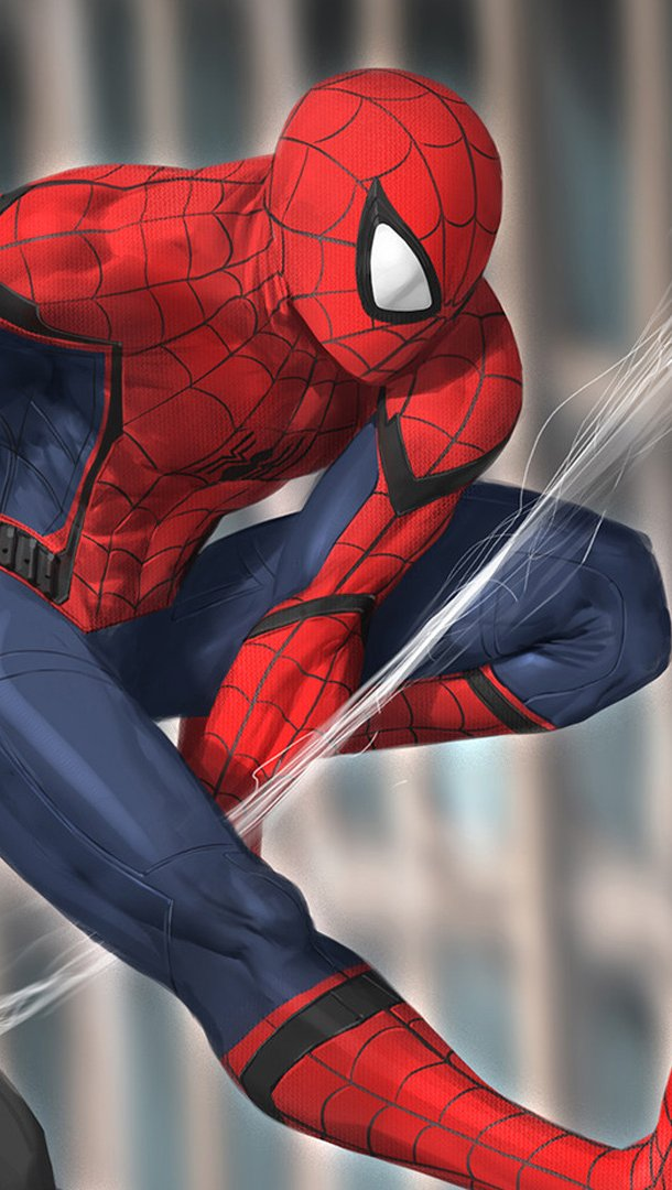 Wallpaper Spiderman and Silk Vertical