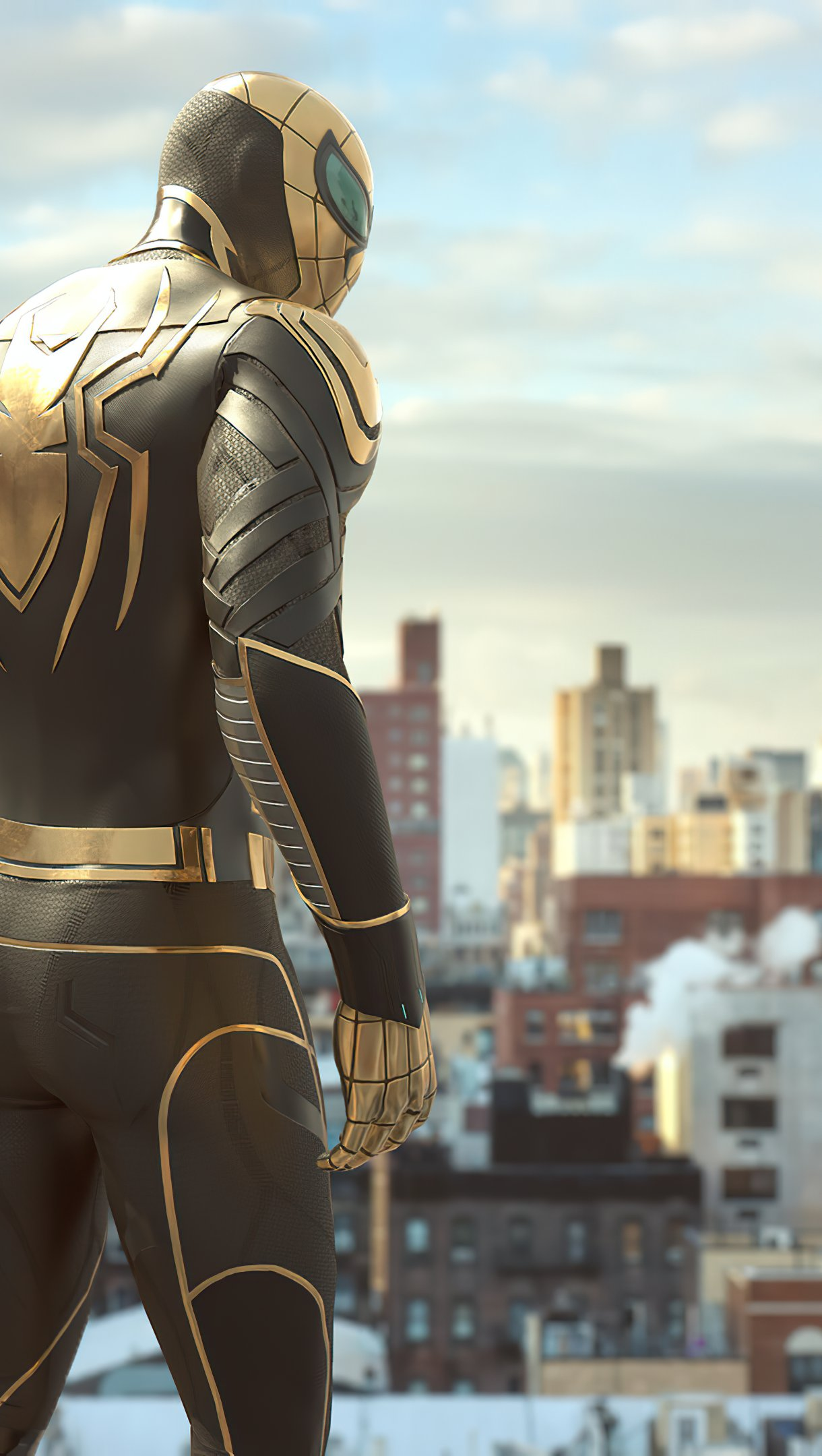 Fondos de pantalla El hombre de araña con Armadura de Wakanda Vertical