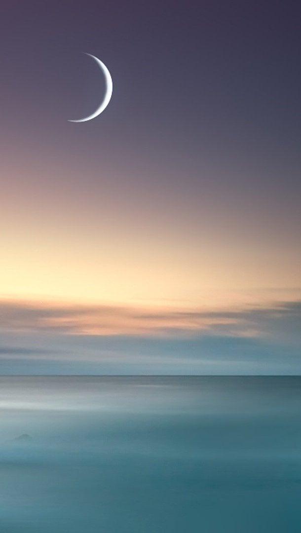 Fondos de pantalla El mar y la luna Vertical