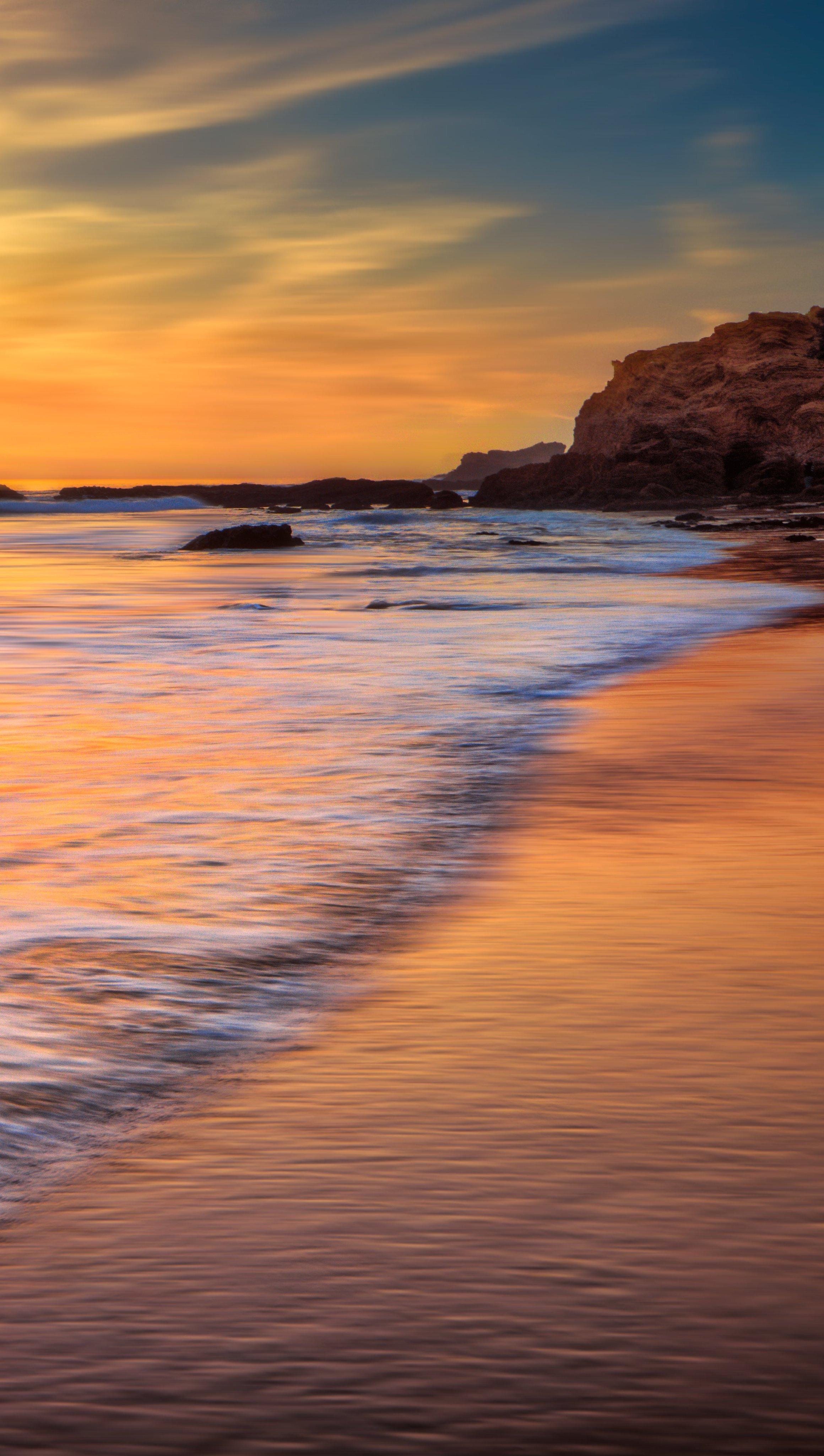 Fondos de pantalla El oceano de California al atardecer Vertical