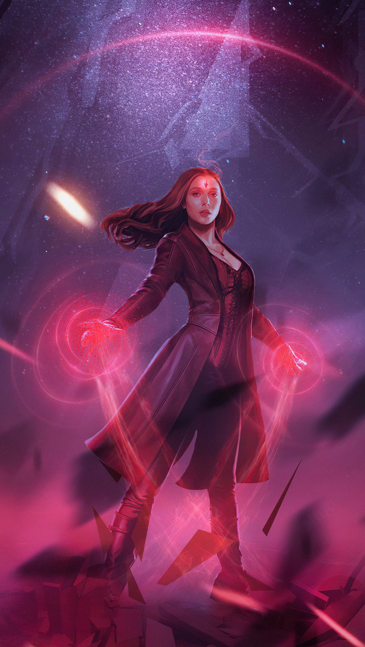 Wallpaper Power of Scarlet Witch Vertical
