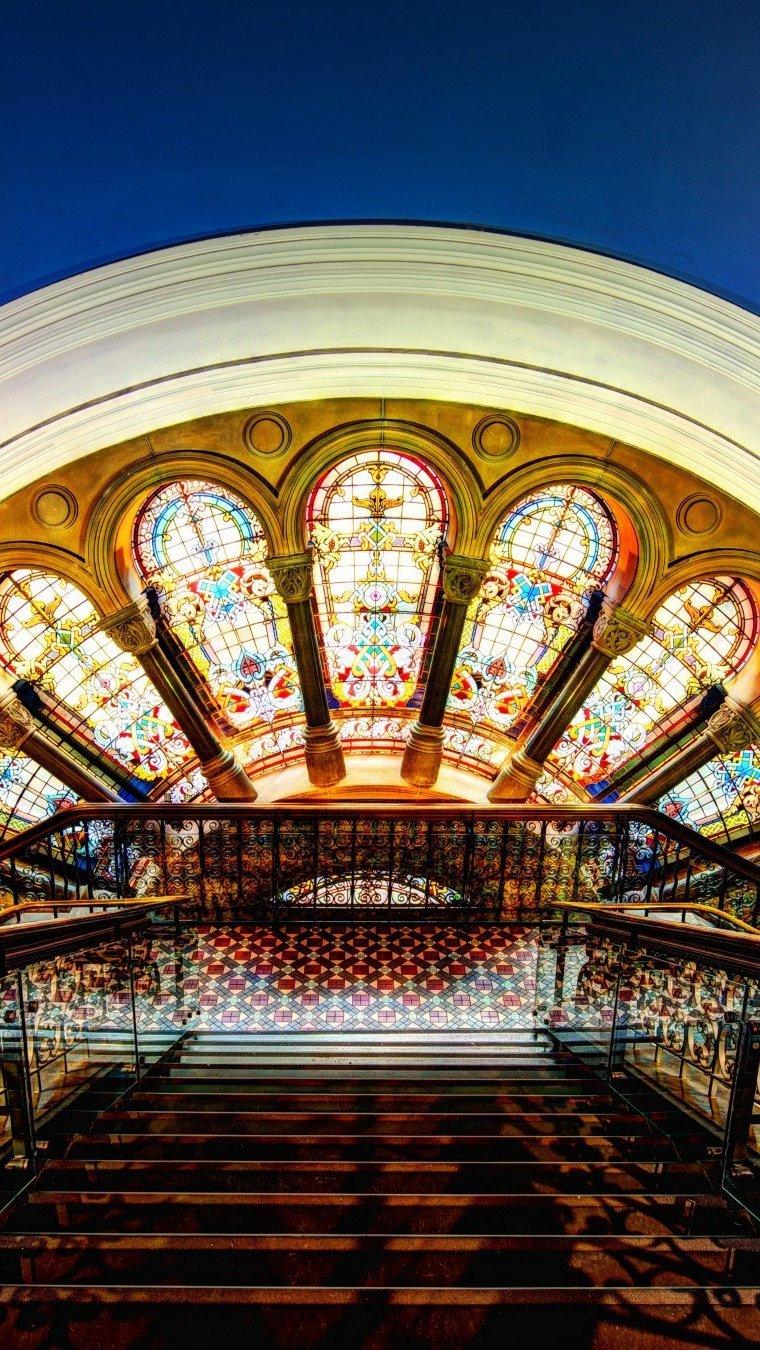 Wallpaper The Queen Victoria Building inside Vertical