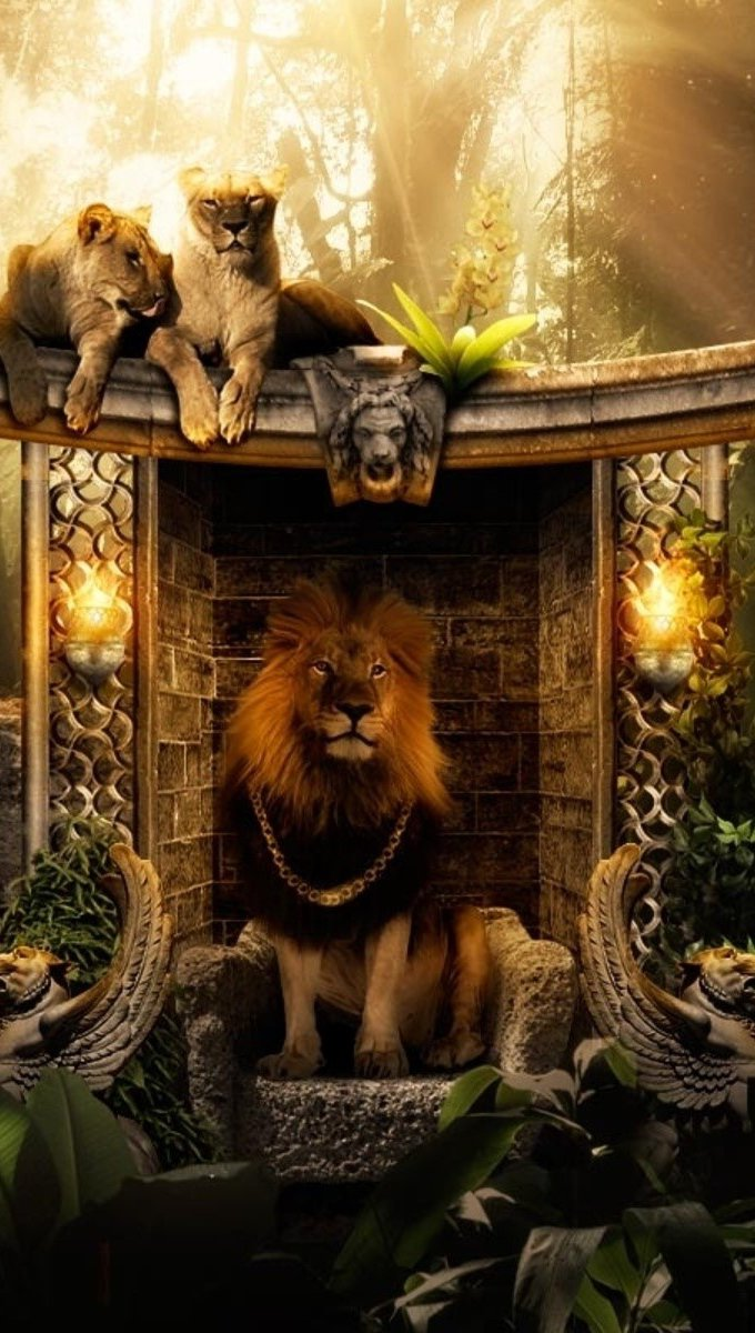 Wallpaper King of the jungle Vertical