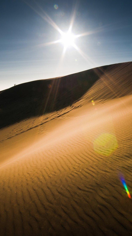 Fondos de pantalla El sol en el desierto Vertical
