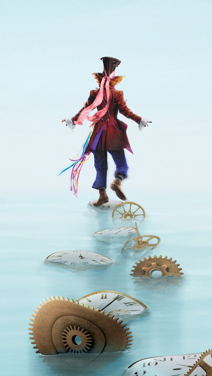 Wallpaper The Mad Hatter in Alice Through the Looking Glass Vertical