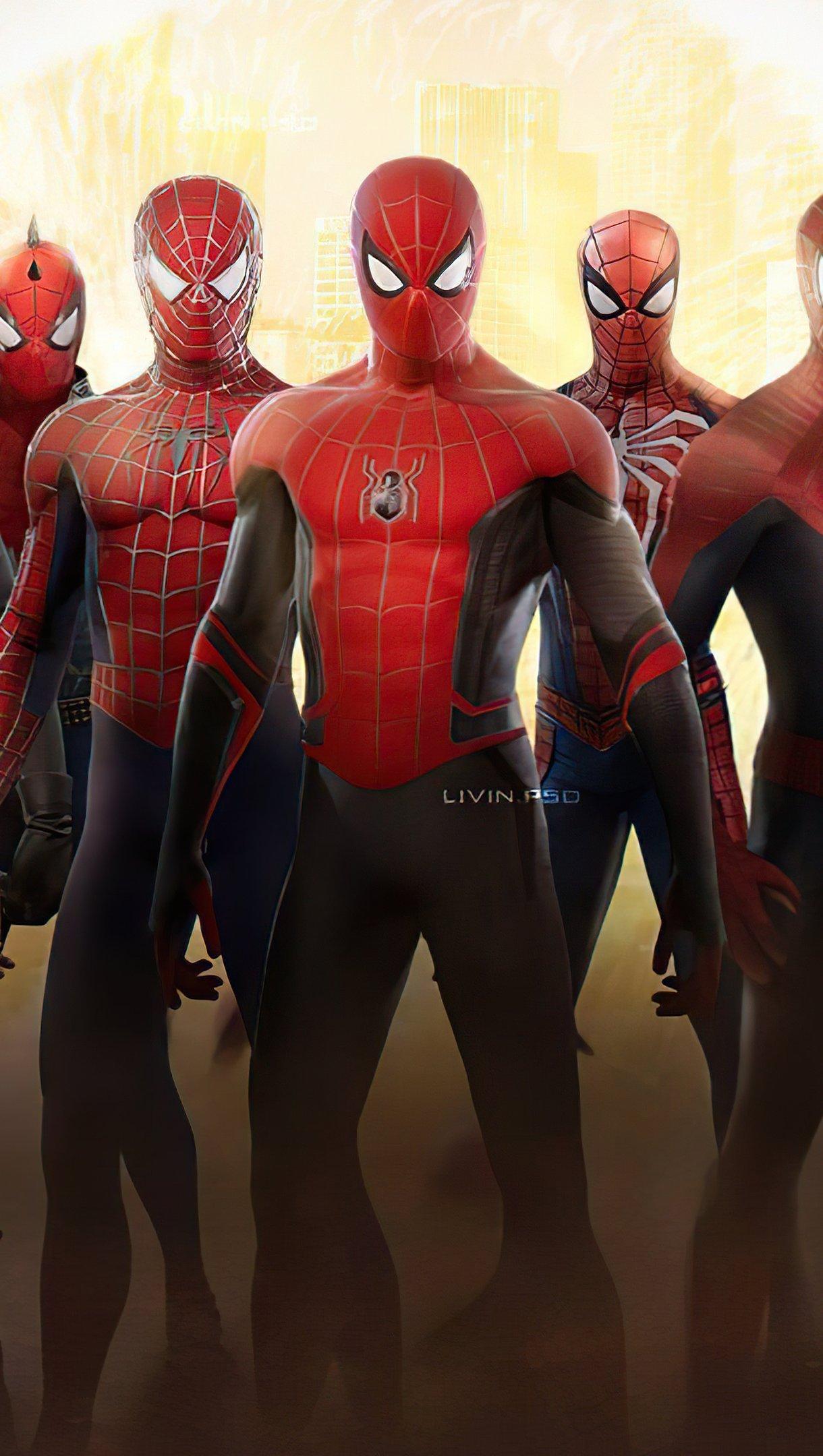 Wallpaper Spider Verse Vertical